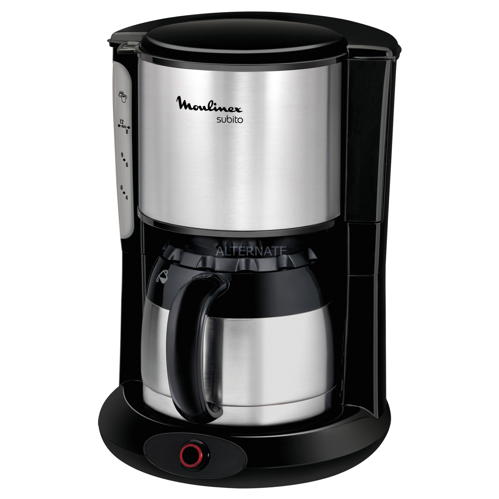 Subito Independiente Cafetera de filtro Acero inoxidable 0,9 L 10 tazas Manual