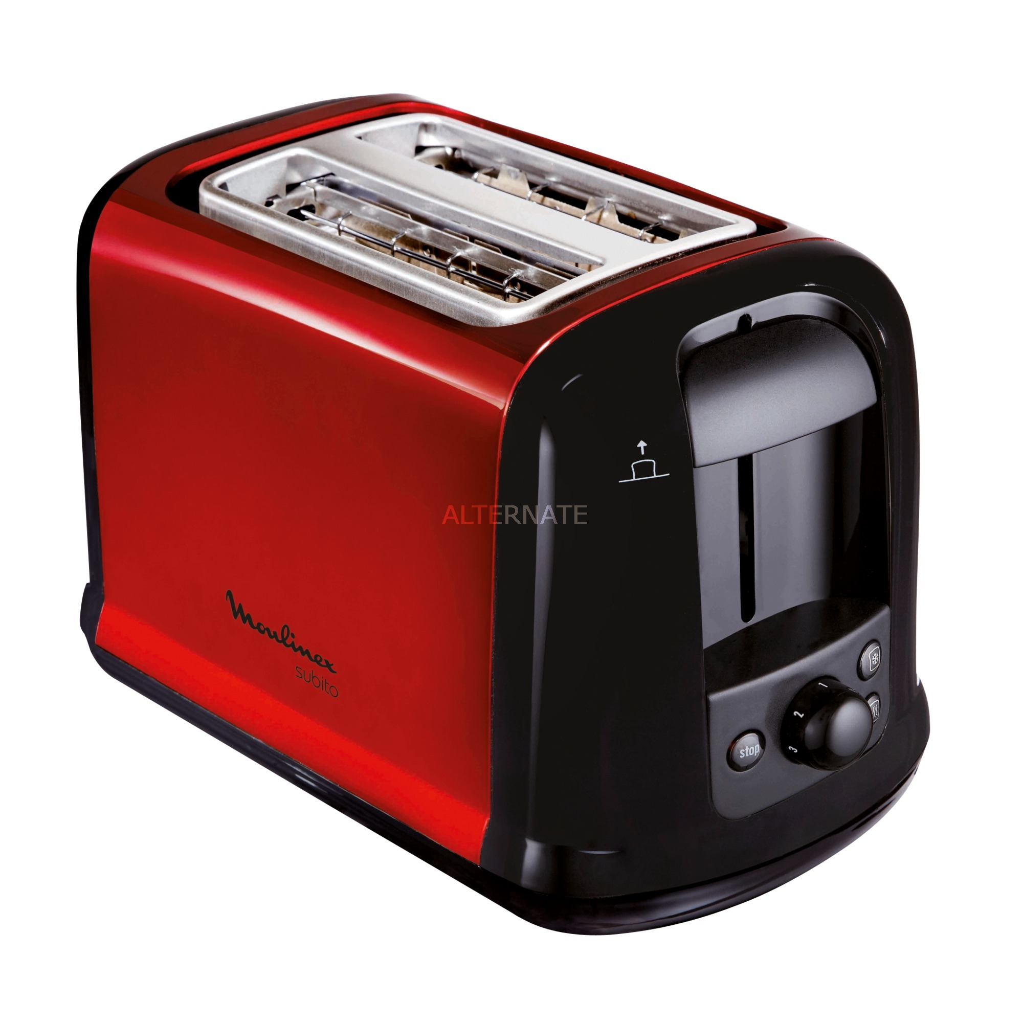 Subitor tostadora 2 rebanada(s) Negro, Rojo 850 W