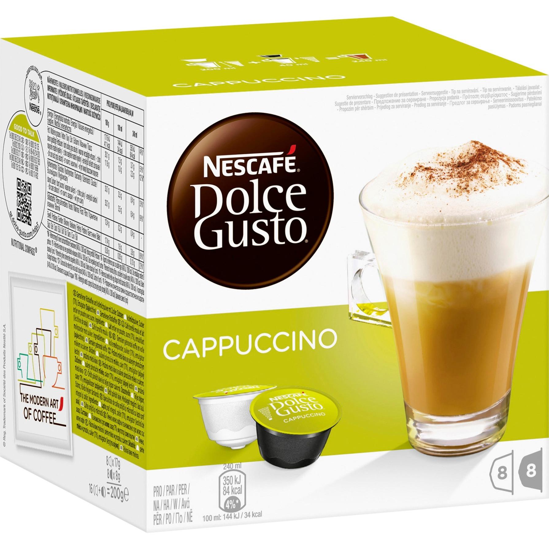Cappuccino Café, Cápsula de bebida