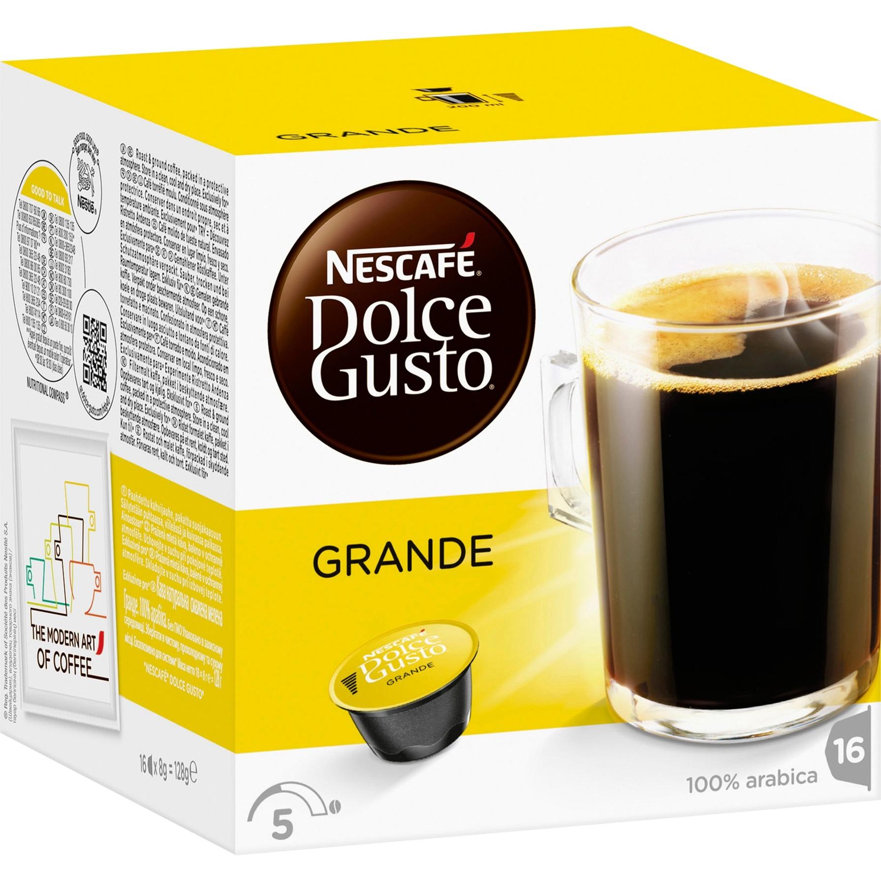 Dolce Gusto Caffè Crema Grande café instantáneo, Cápsula de bebida