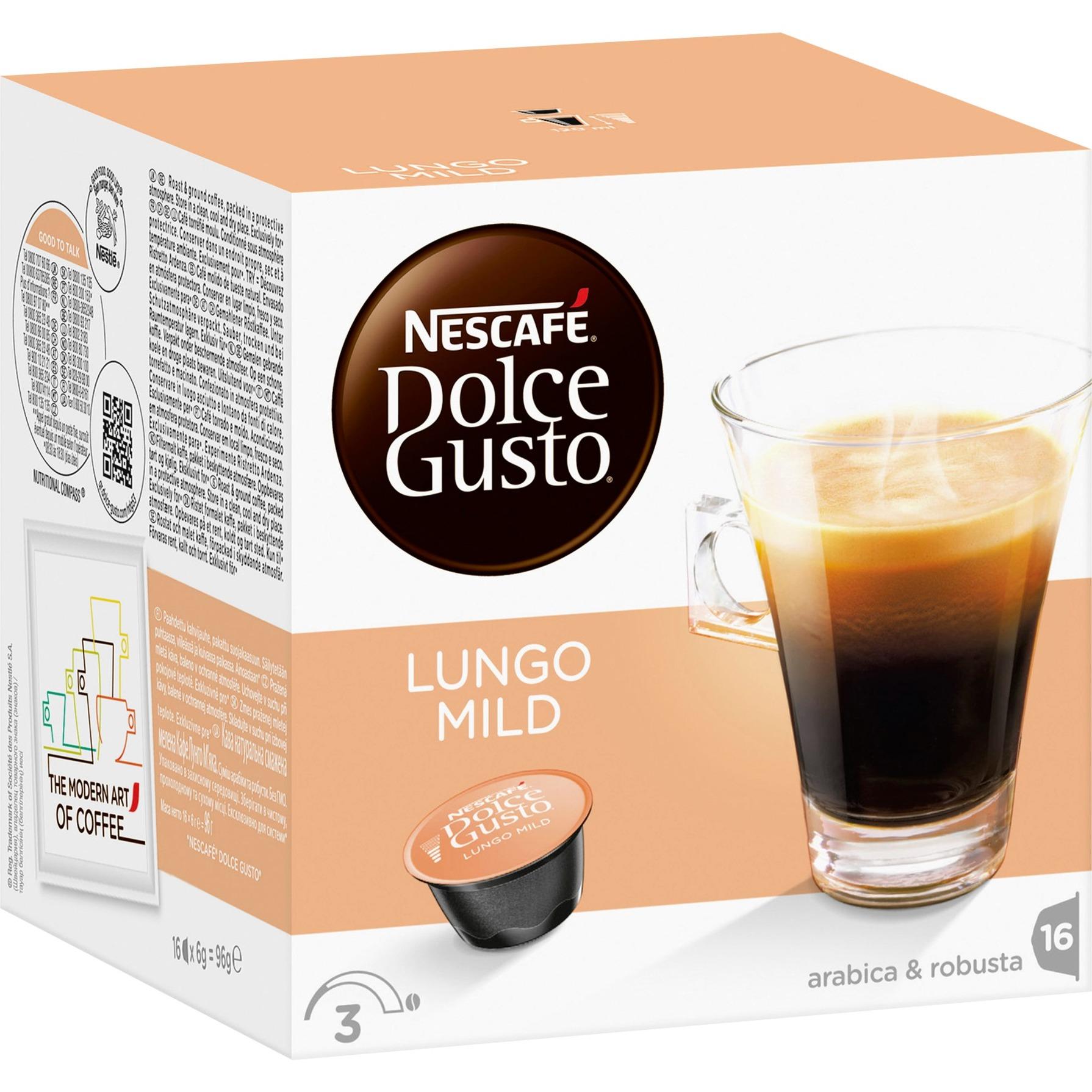 Dolce Gusto Caffe Lungo mild, Cápsula de bebida