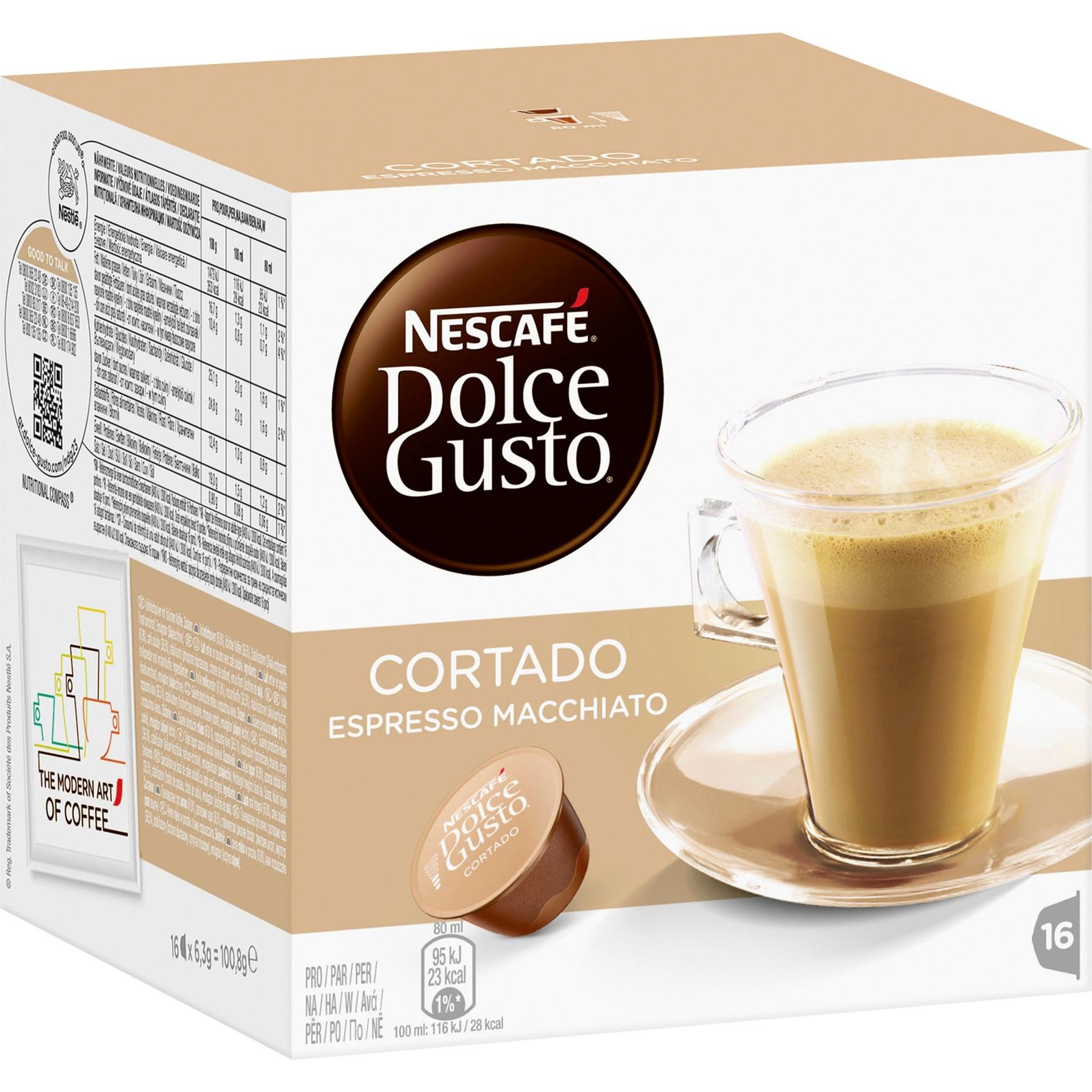 Dolce Gusto Cortado café instantáneo, Cápsula de bebida