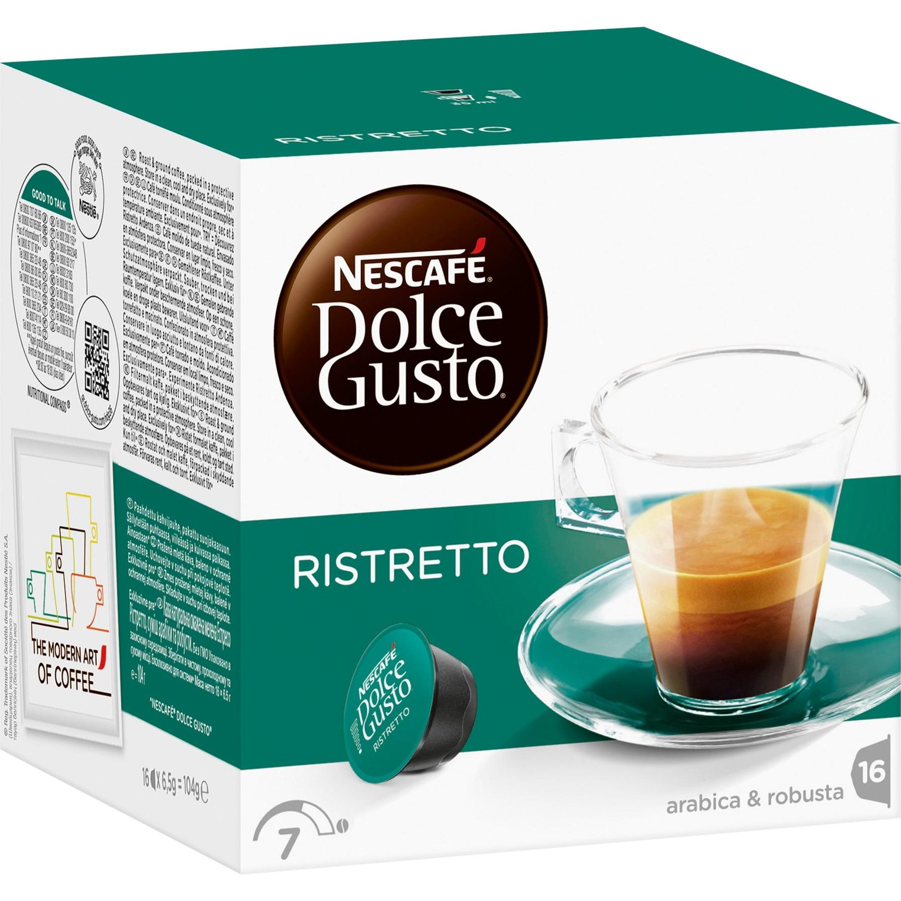 Dolce Gusto Espresso Ristretto café instantáneo, Cápsula de bebida