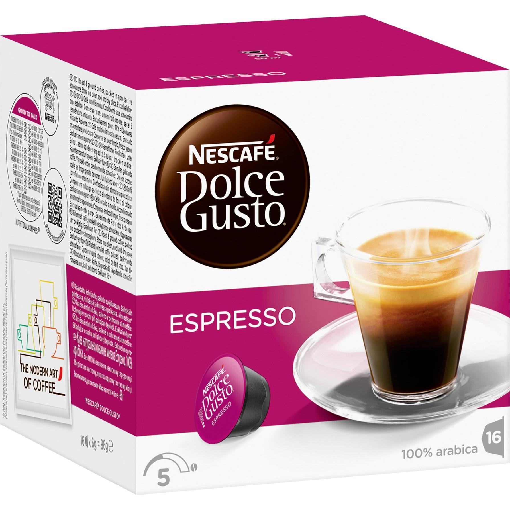 Dolce Gusto Espresso café instantáneo, Cápsula de bebida