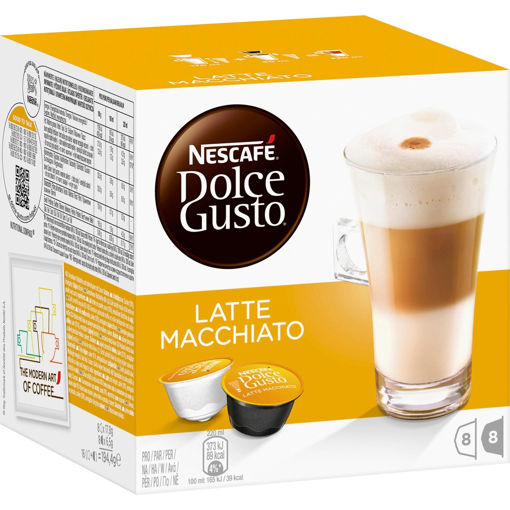 Latte Macchiato, Cápsula de bebida
