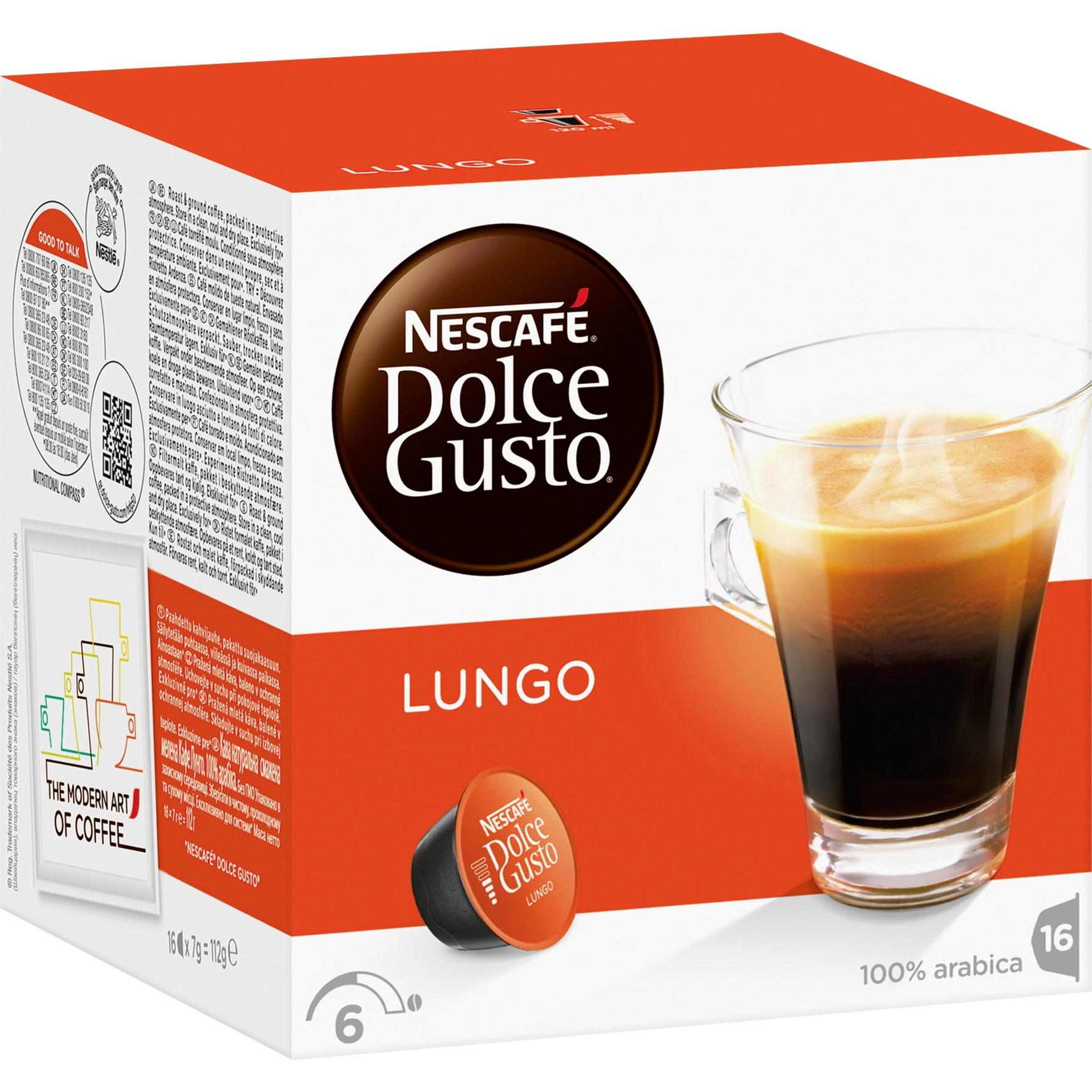 Lungo Cápsula de café 16 pieza(s), Cápsula de bebida