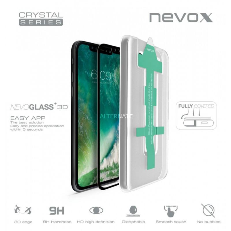 NEVOGLASS 3D Protector de pantalla Teléfono móvil/smartphone Apple 1 pieza(s), Película protectora