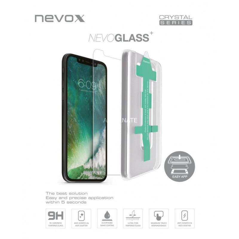 NEVOGLASS Protector de pantalla Teléfono móvil/smartphone Apple 1 pieza(s), Película protectora
