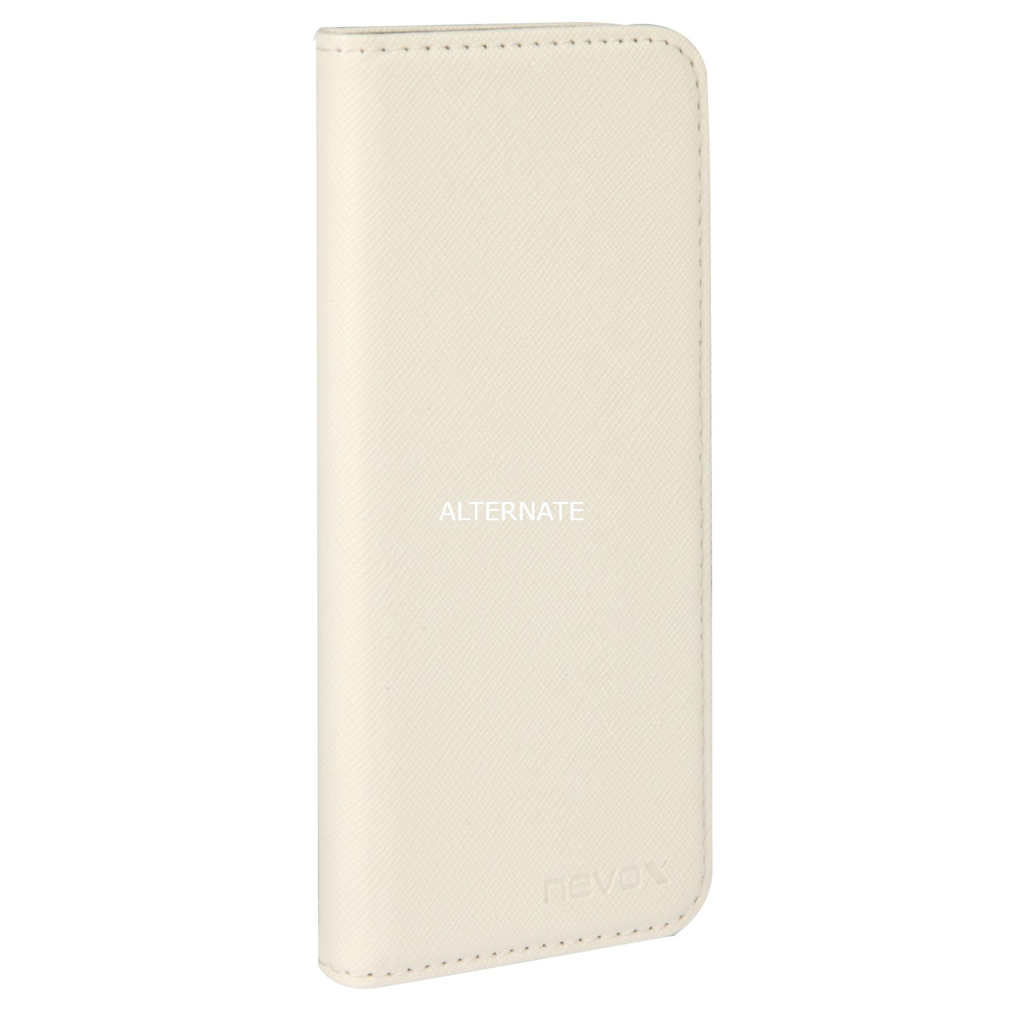 """ORDO funda para teléfono móvil 14,7 cm (5.8"""") Libro Gris, Blanco, Funda protectora"""