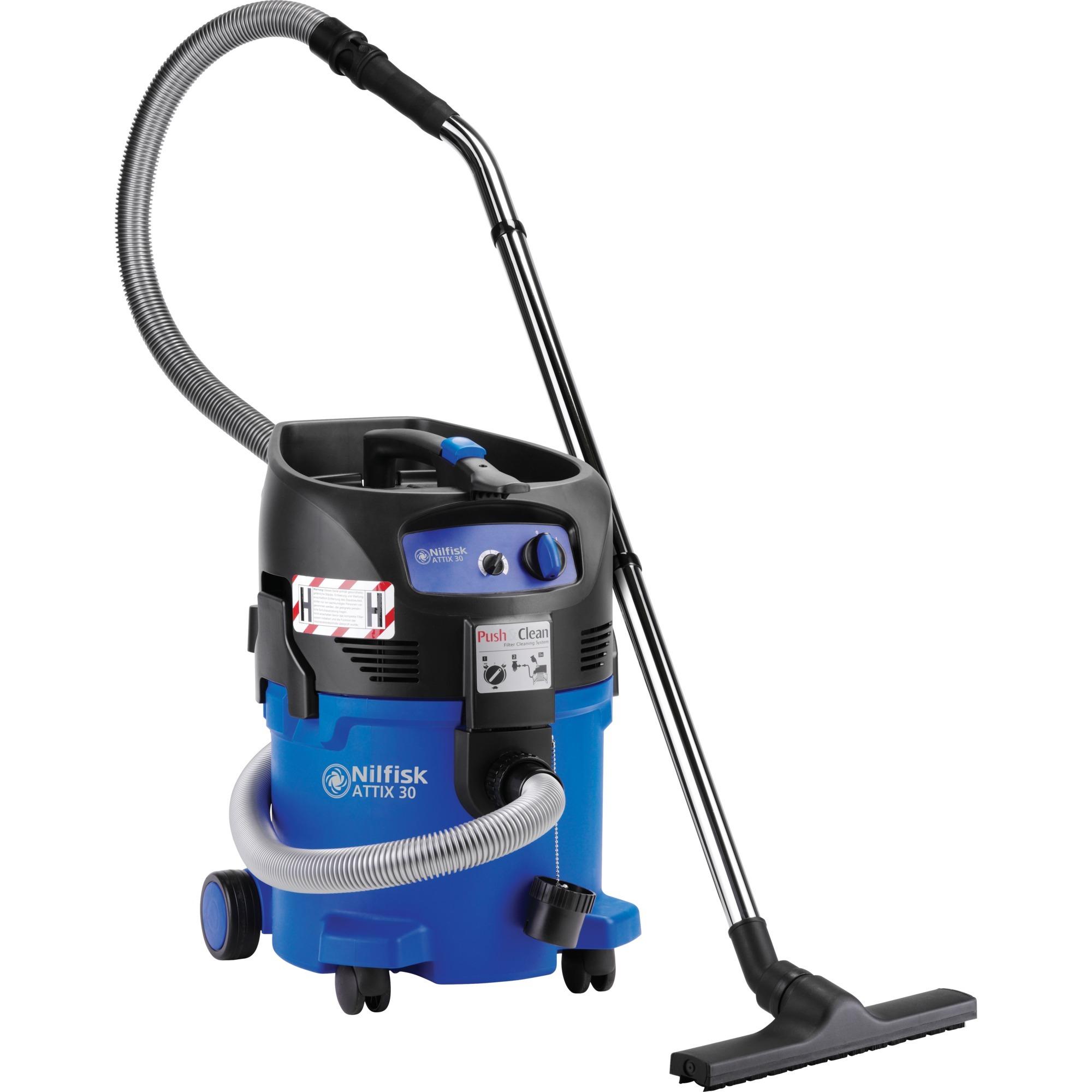 ATTIX 30-0H PC Aspiradora de tambor 30L 1500W Negro, Azul, Aspiradora en húmedo y en seco