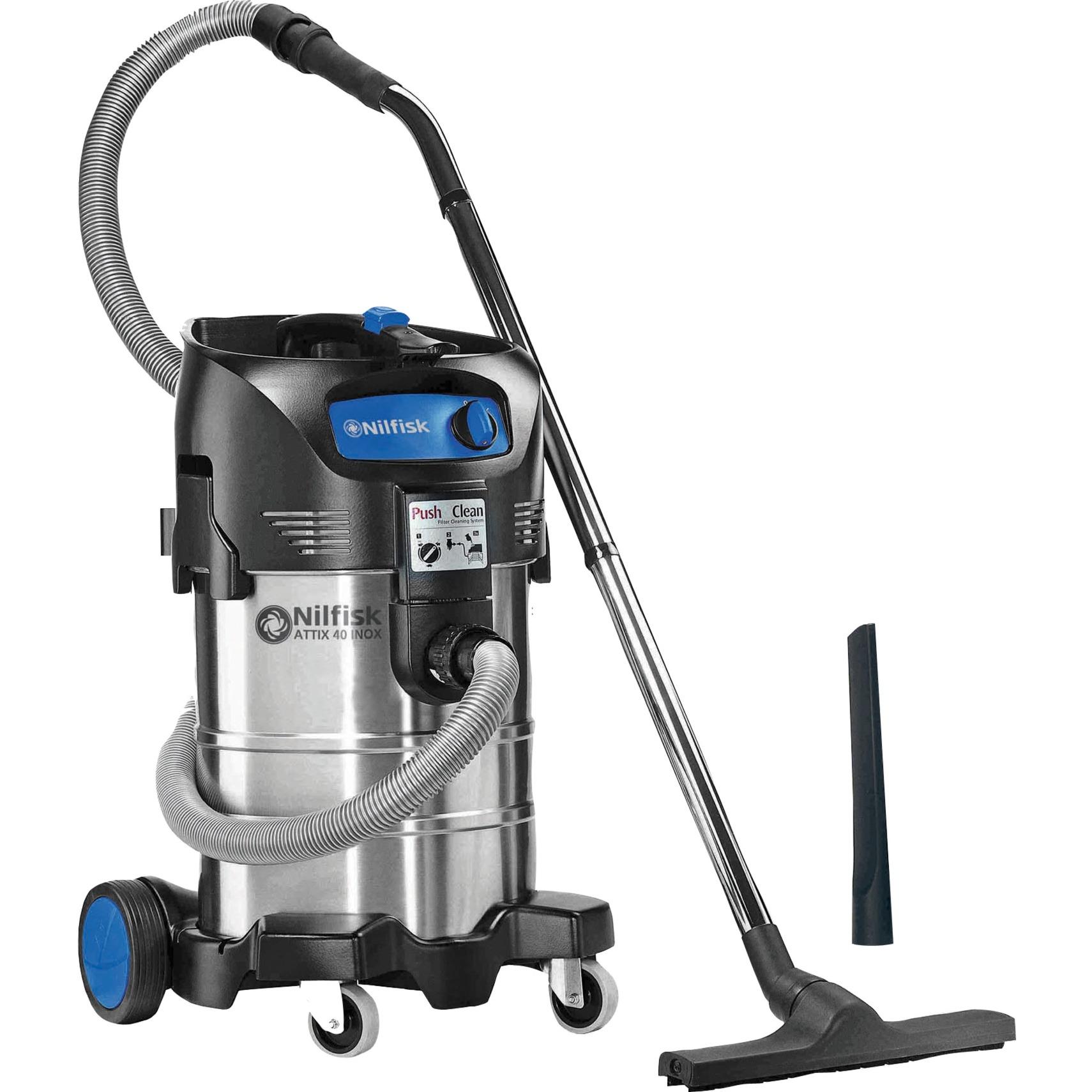 ATTIX 40-01 PC INOX 37L 1500W Multicolor extractor de polvo, Aspiradora en húmedo y en seco