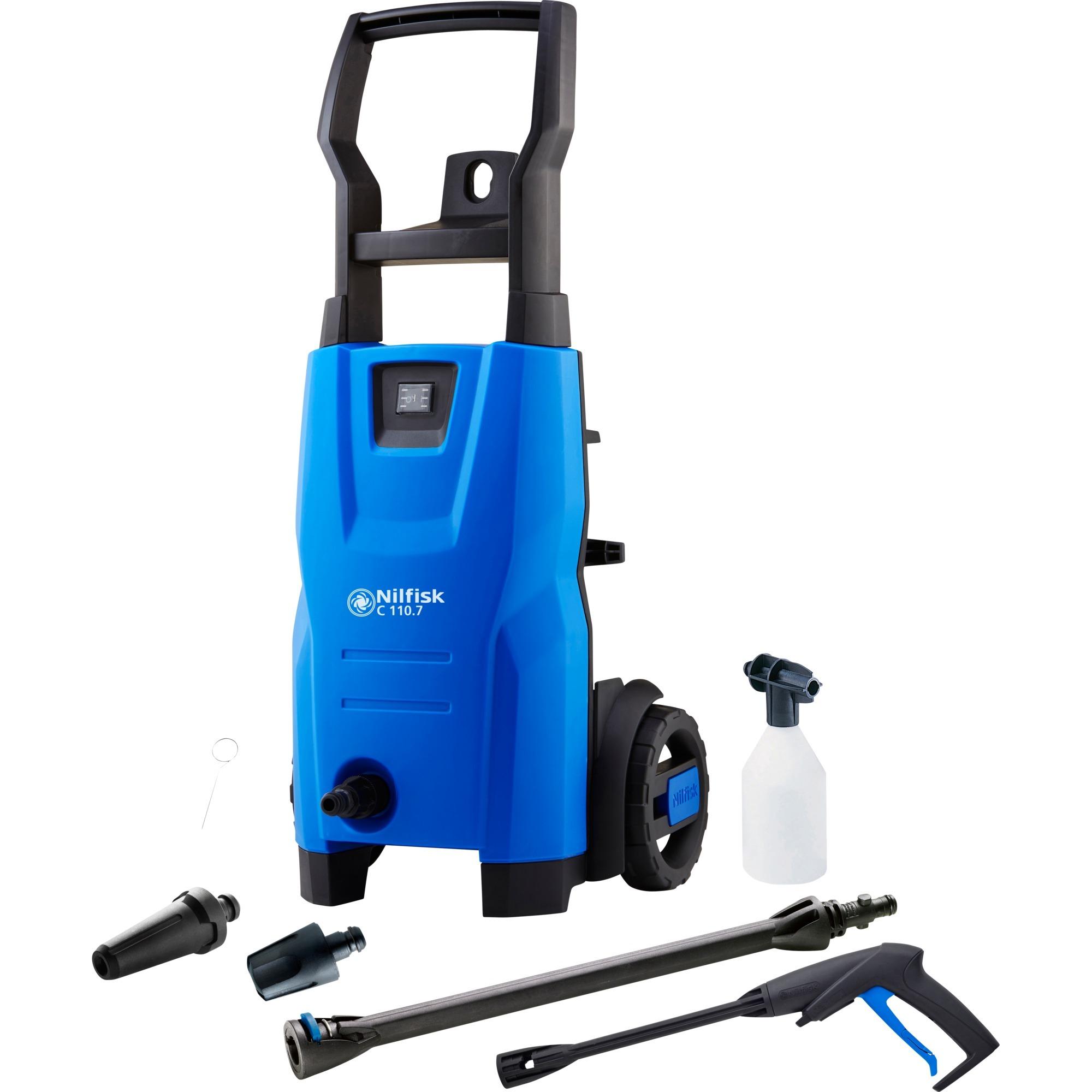 C 110.7-5 X-TRA EU Limpiadora de alta presión o Hidrolimpiadora Vertical Eléctrico Negro, Azul 440 l/h 1400 W, Hidrolimpiadora de alta presión