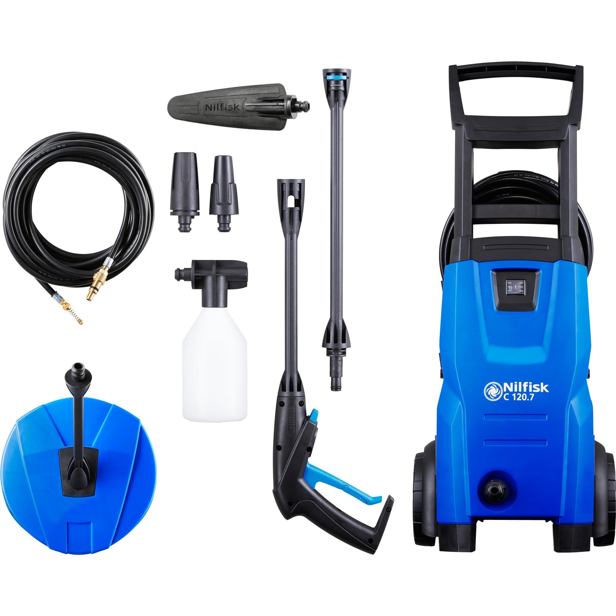 C 120.7-6 PCAD EU Limpiadora de alta presión o Hidrolimpiadora Vertical Eléctrico Negro, Azul 440 l/h 1400 W, Hidrolimpiadora de alta presión