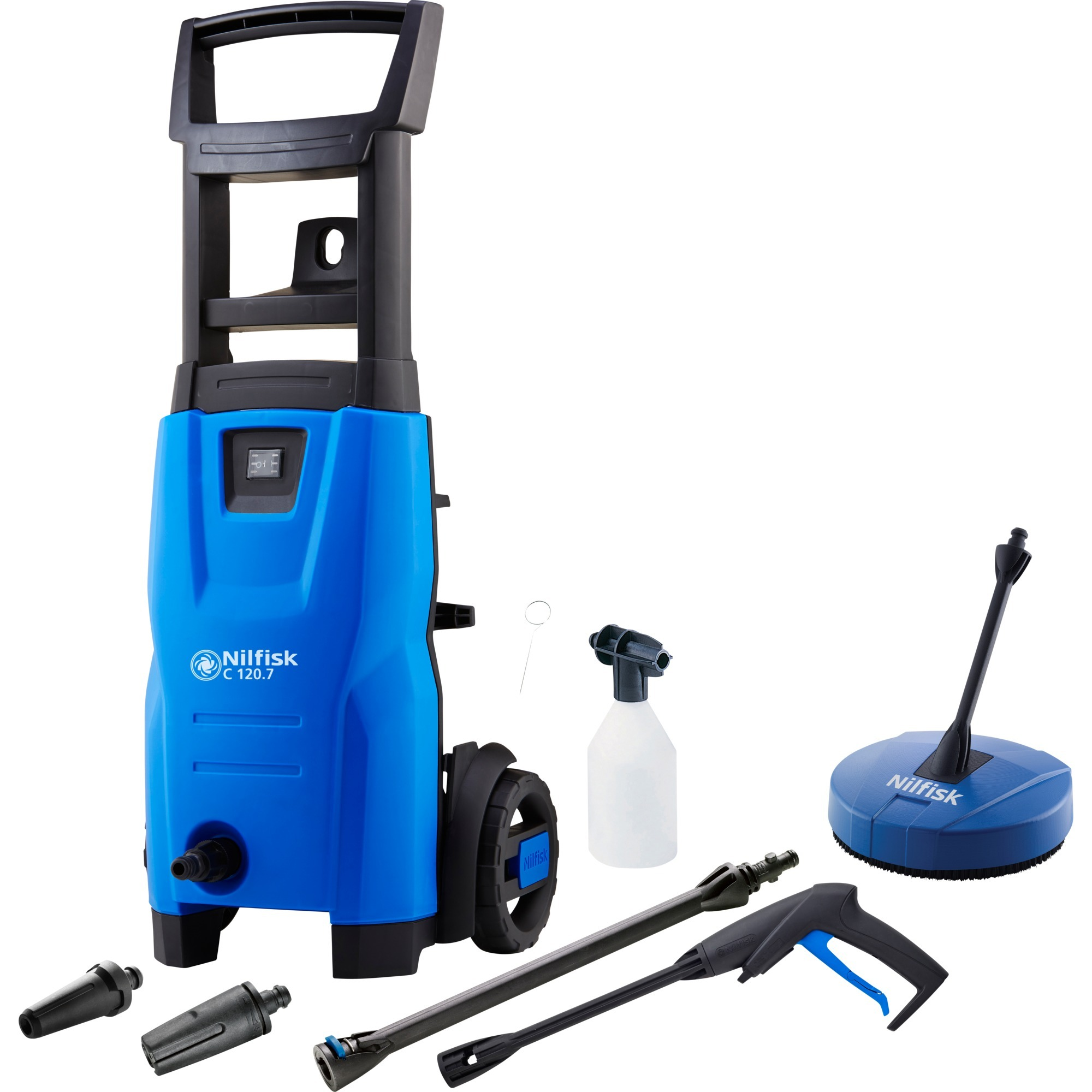 C 120.7-6 PC EU Limpiadora de alta presión o Hidrolimpiadora Vertical Eléctrico Negro, Azul 440 l/h 1400 W, Hidrolimpiadora de alta presión