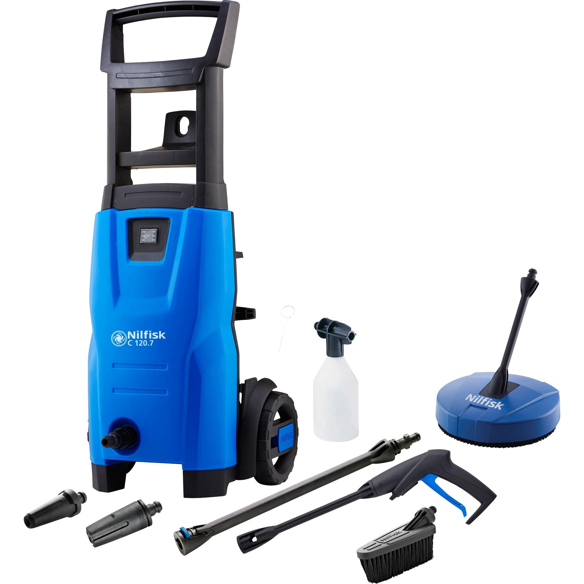 C 120.7 Limpiadora de alta presión o Hidrolimpiadora Compacto Eléctrico Negro, Azul 440 l/h 1400 W, Hidrolimpiadora de alta presión