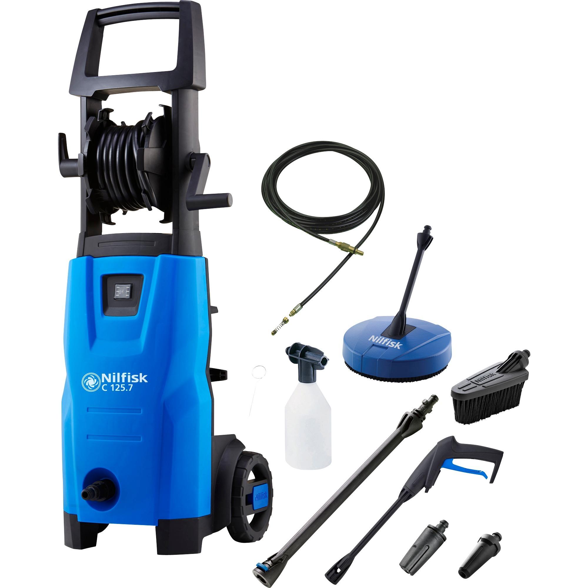 C 125.7-6 PCAD X-TRA Limpiadora de alta presión o Hidrolimpiadora Vertical Eléctrico Negro, Azul 460 l/h 1500 W, Hidrolimpiadora de alta presión