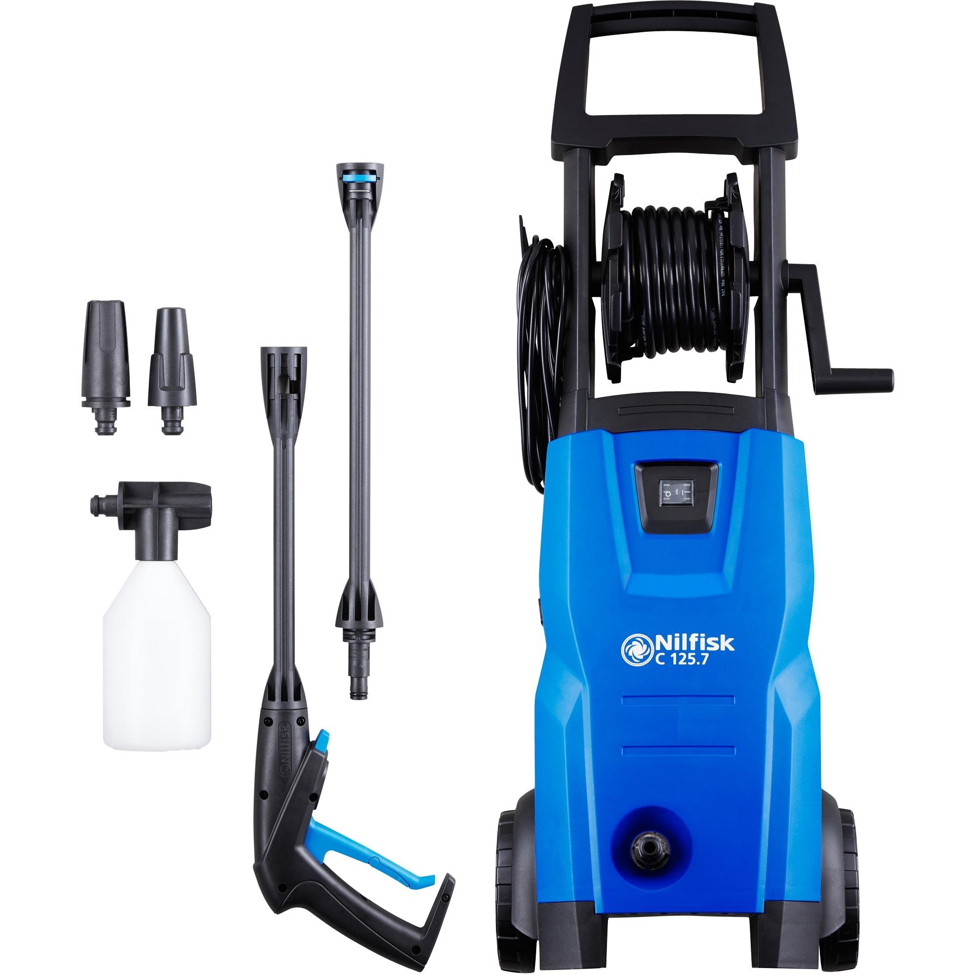 C 125.7 X-TRA EU Vertical Eléctrico 460l/h 1500W Negro, Azul Limpiadora de alta presión o Hidrolimpiadora, Hidrolimpiadora de alta presión
