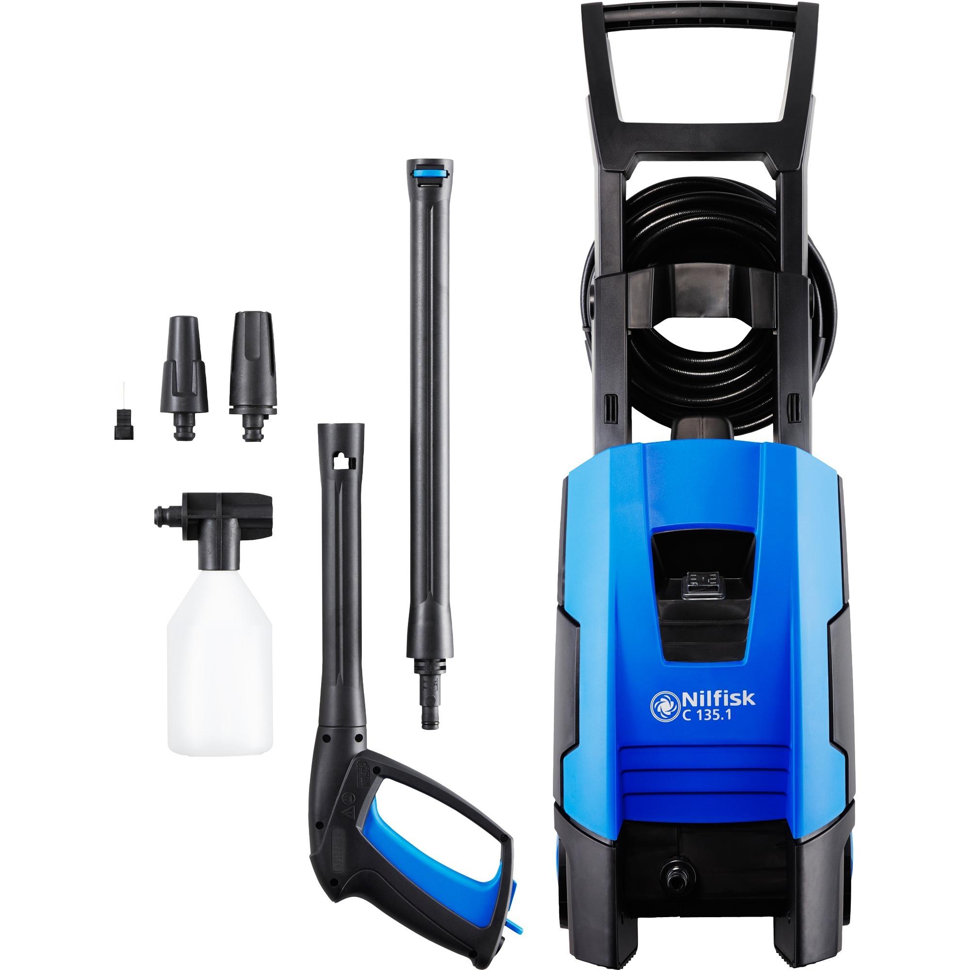 C 135.1 Compacto Eléctrico 520l/h 7800W Negro, Azul Limpiadora de alta presión o Hidrolimpiadora, Hidrolimpiadora de alta presión