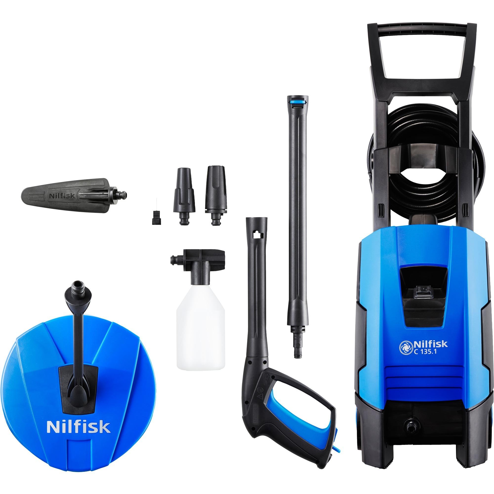 C 135.1 Limpiadora de alta presión o Hidrolimpiadora Vertical Eléctrico Negro, Azul 520 l/h 7800 W, Hidrolimpiadora de alta presión