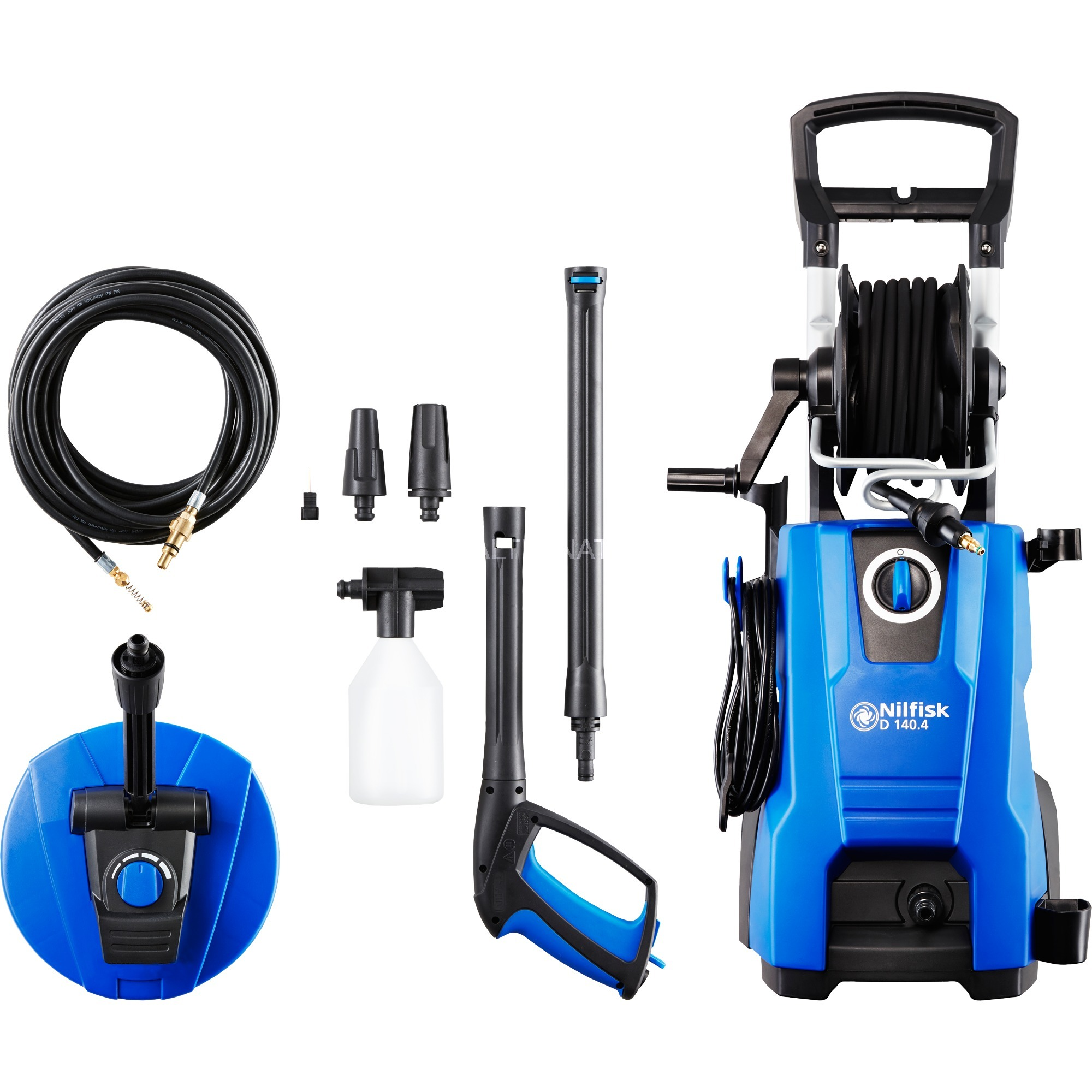 D 140.4 Limpiadora de alta presión o Hidrolimpiadora Compacto Eléctrico Negro, Azul 550 l/h 2400 W, Hidrolimpiadora de alta presión