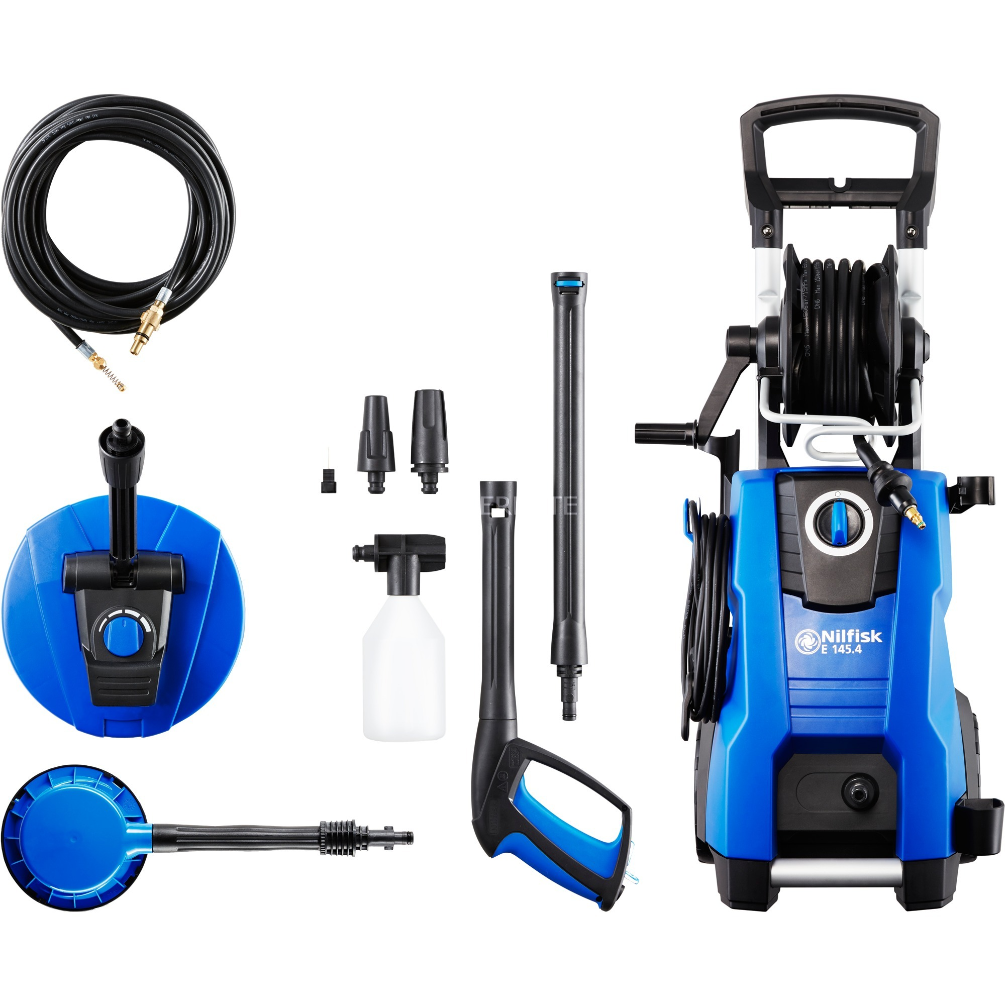 E 145.4 Compacto Eléctrico 500l/h 2100W Negro, Azul Limpiadora de alta presión o Hidrolimpiadora, Hidrolimpiadora de alta presión