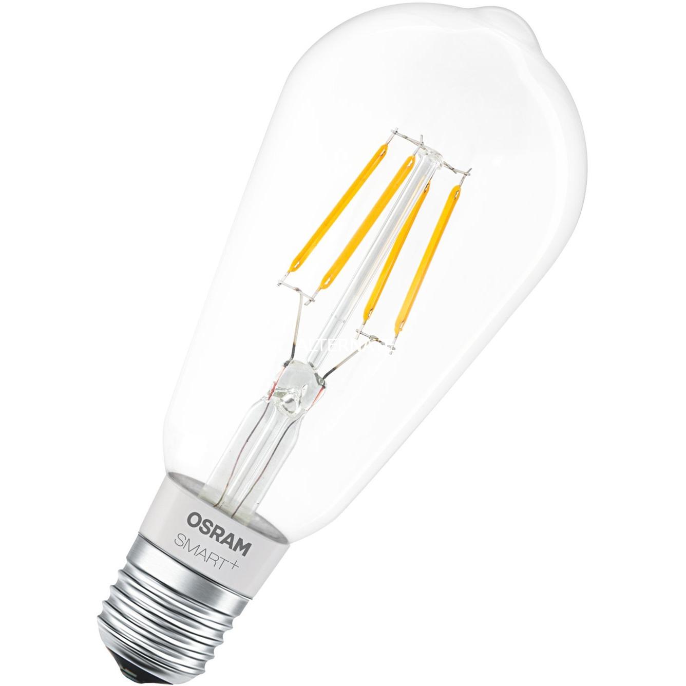 Smart + Filament Edison Bombilla inteligente Bluetooth 5,5 W, Lámpara LED