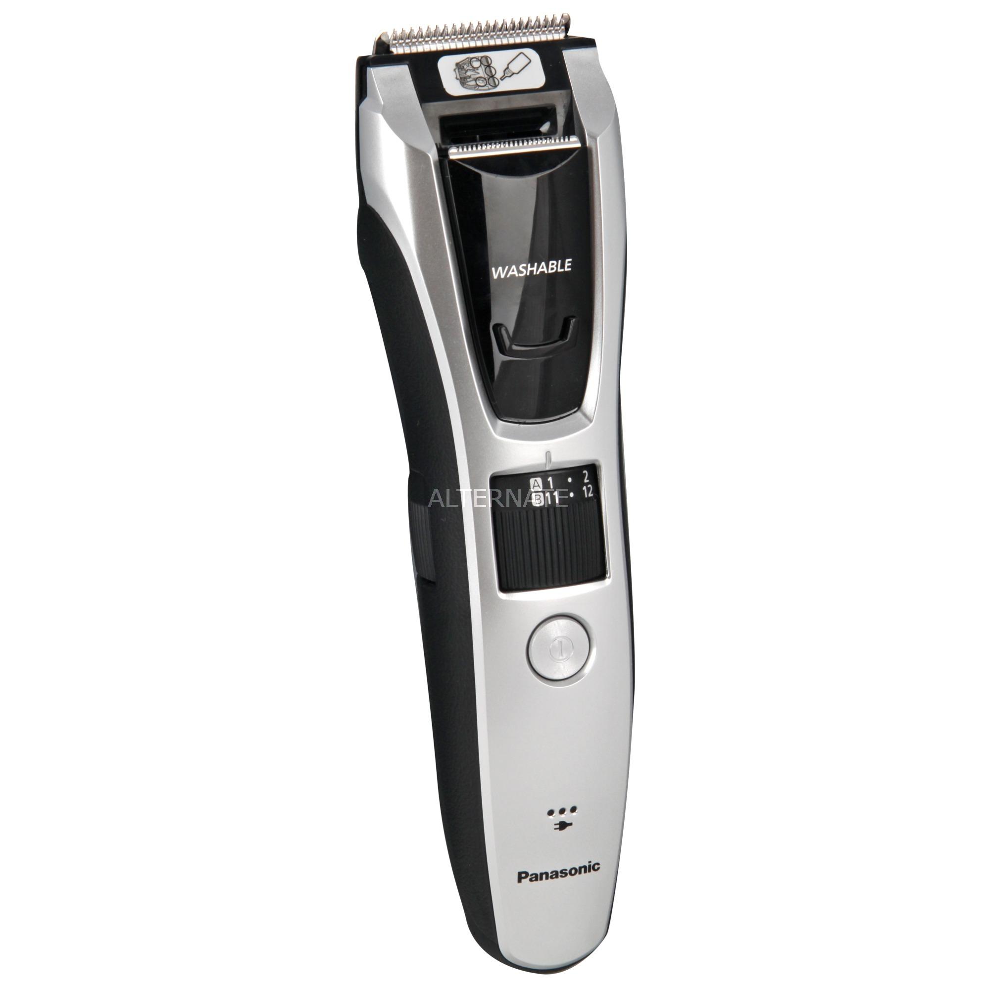 ER-GB70 Negro, Plata Recargable, Cortapelo para barba