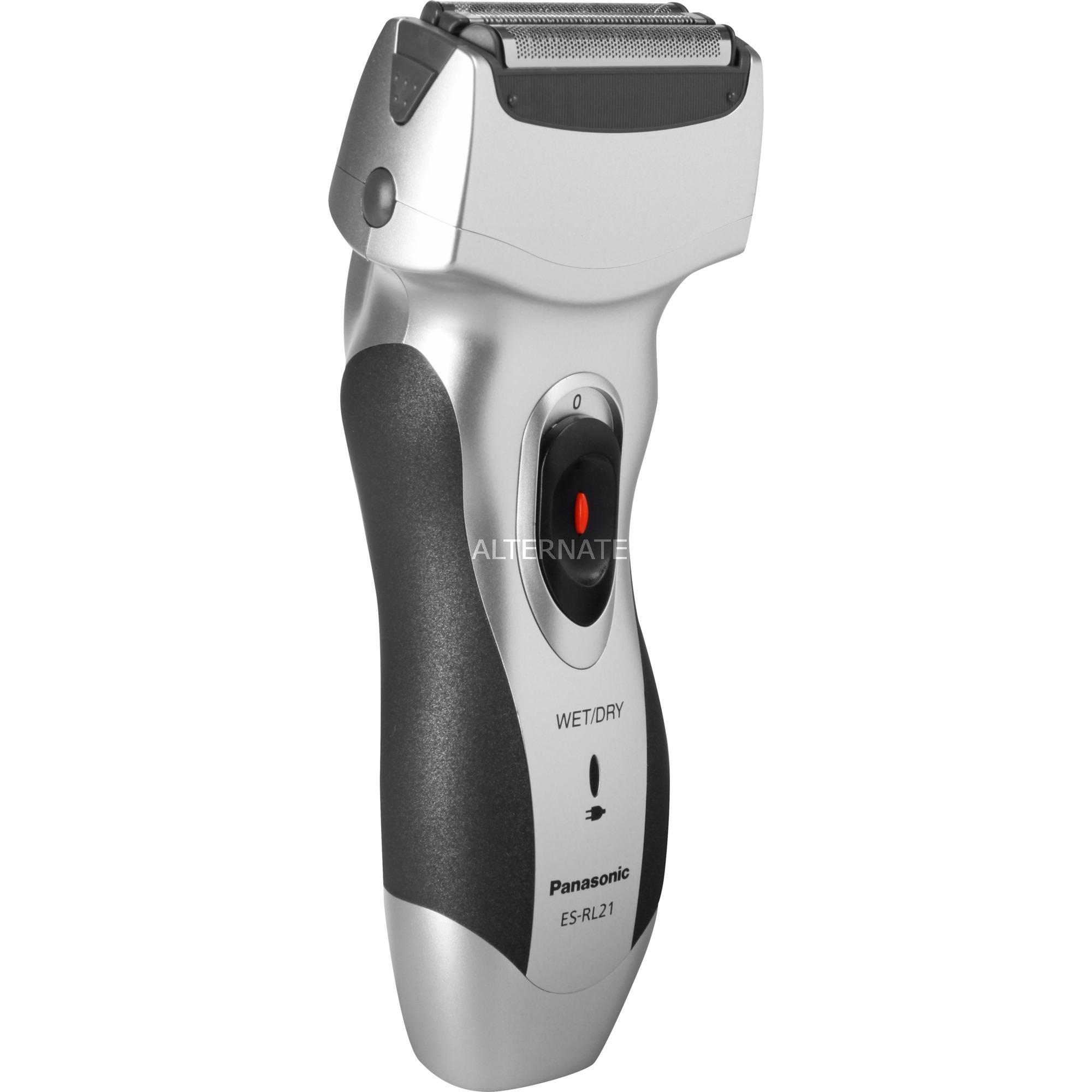 ES-RL21 Máquina de afeitar de láminas Negro, Plata afeitadora