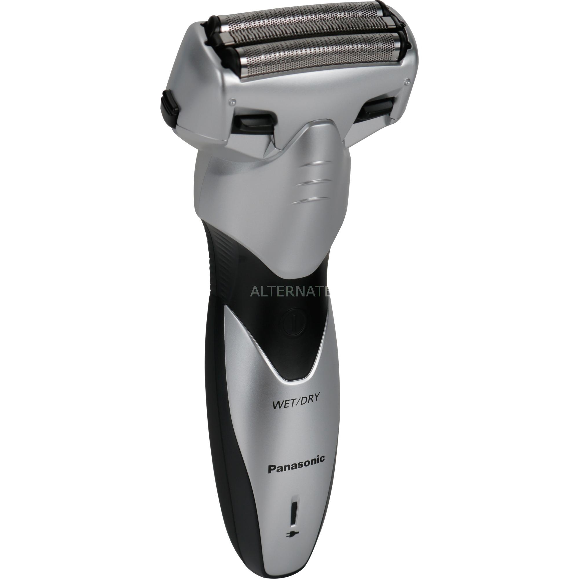 ES-SL33 afeitadora Máquina de afeitar de láminas Recortadora Negro, Plata