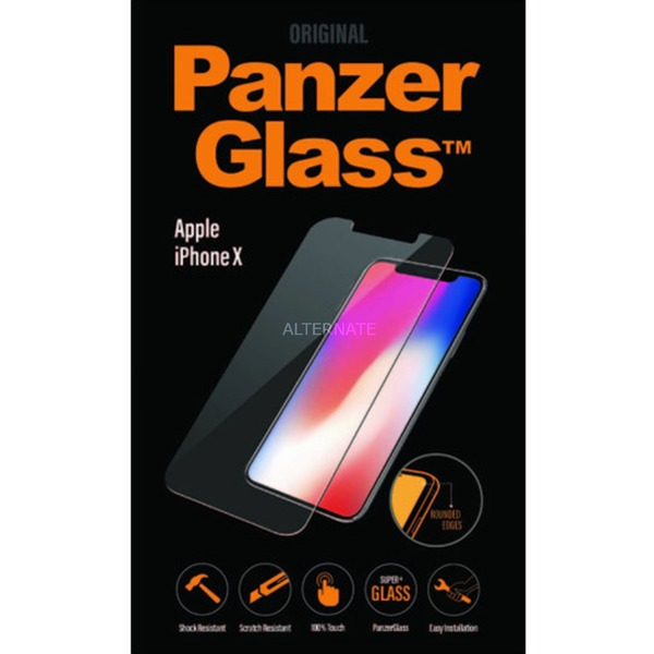 2622 iPhone X Protector de pantalla 1pieza(s) protector de pantalla, Película protectora