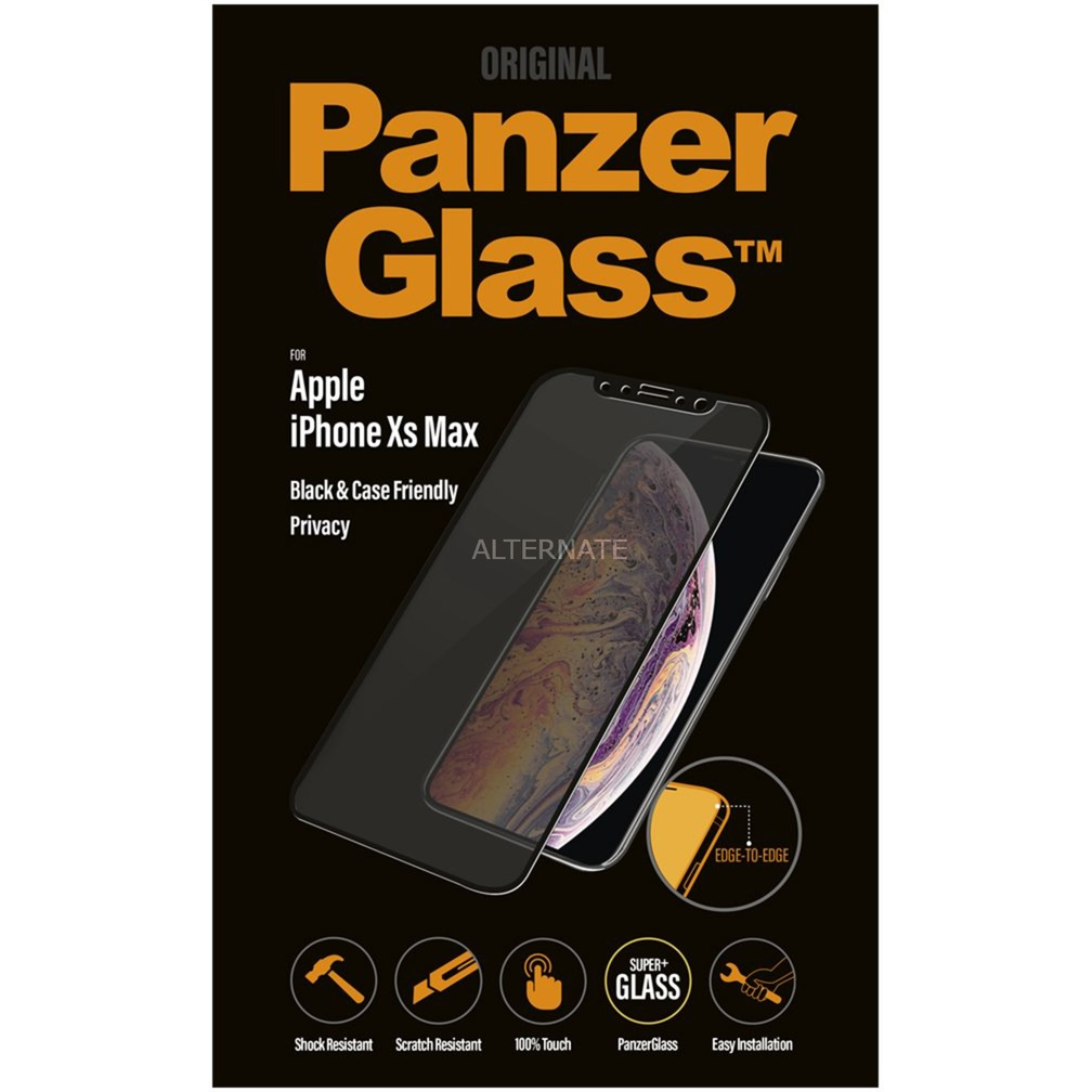 2643 protector de pantalla iPhone Xs Max 1 pieza(s), Película protectora
