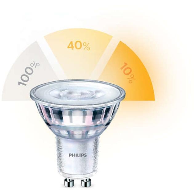 1.5-3.5-5W (5-20-50W) GU10 Non-dimmable Spot, Lámpara LED