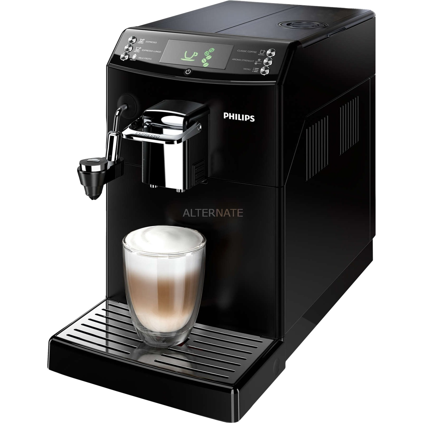 4000 series HD8844/01 Independiente Totalmente automática Máquina espresso 1.8L Negro cafetera eléctrica, Superautomática
