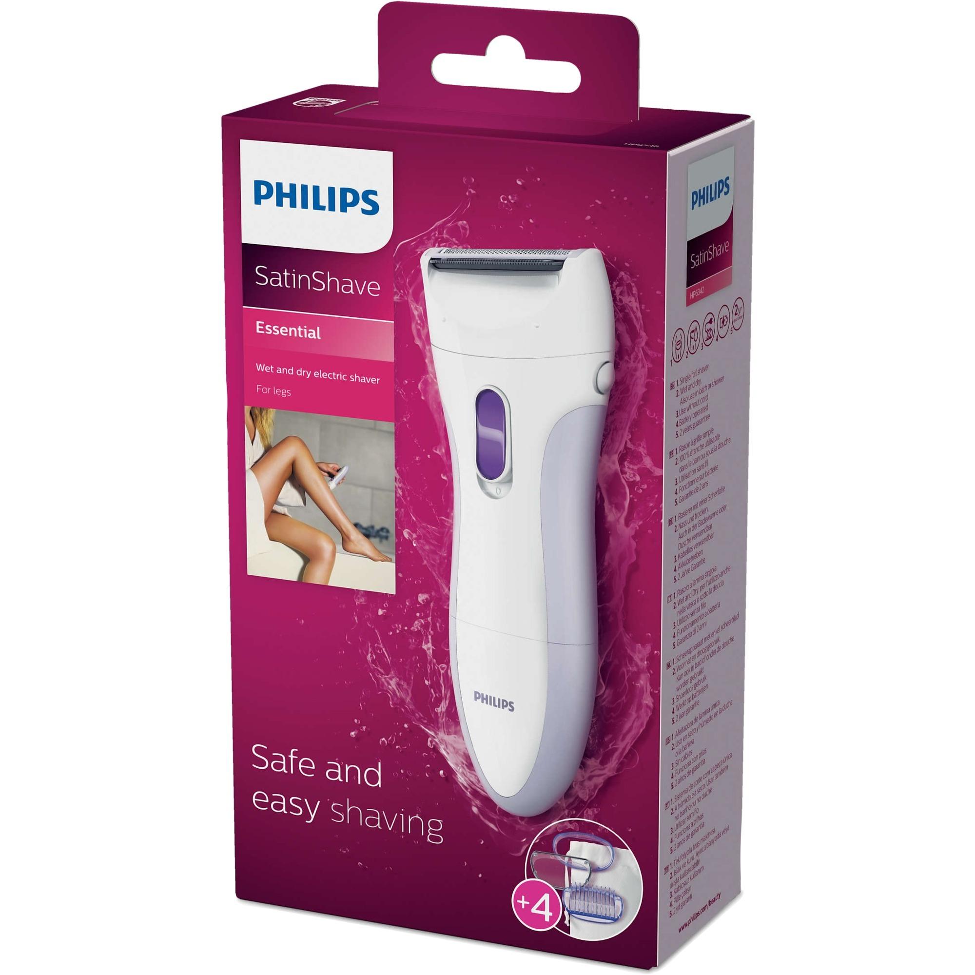 Afeitadora eléctrica en seco y húmedo HP6342/00, Ladyshaver