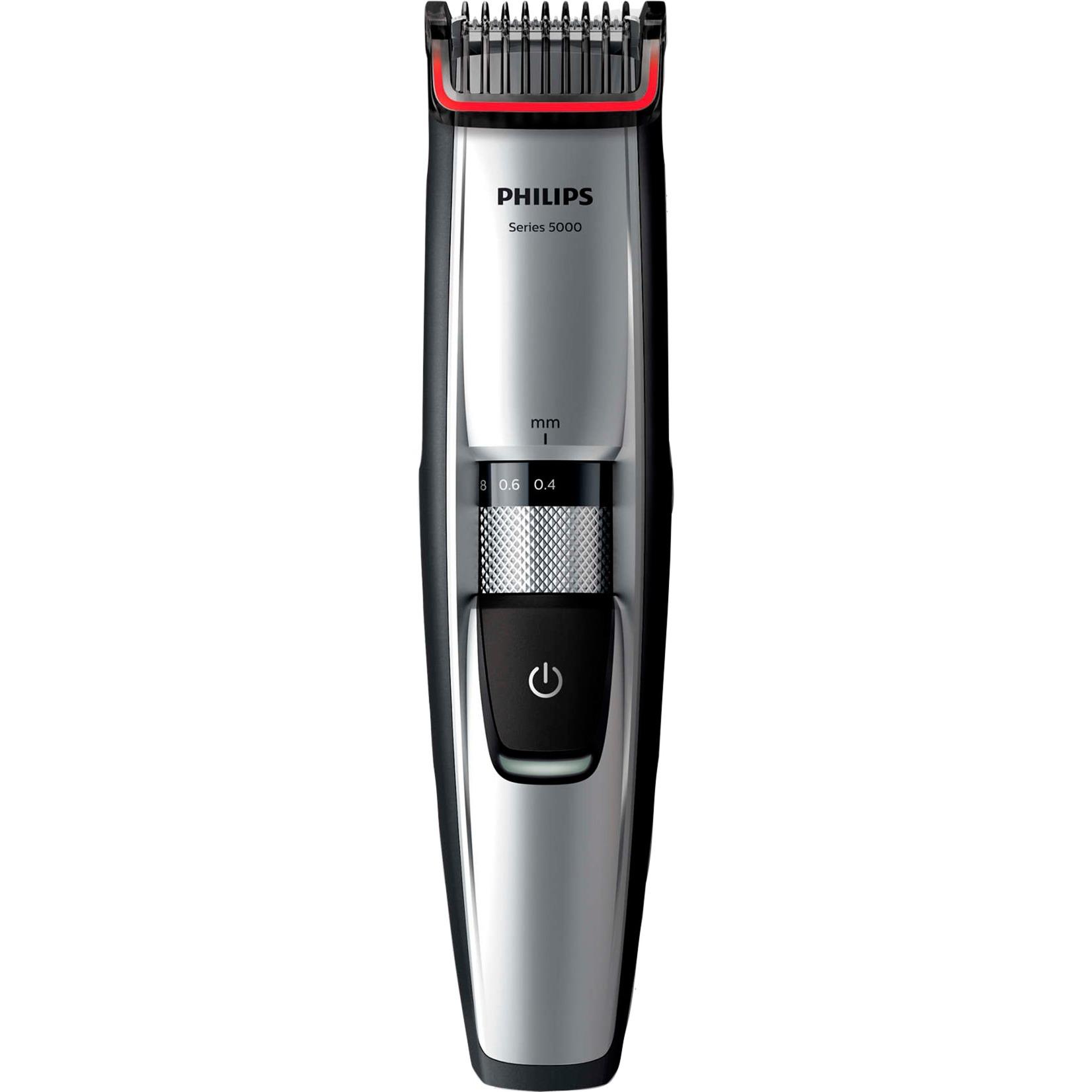 BEARDTRIMMER Series 5000 BT5205/16 Cromo depiladora para la barba, Cortapelo para barba