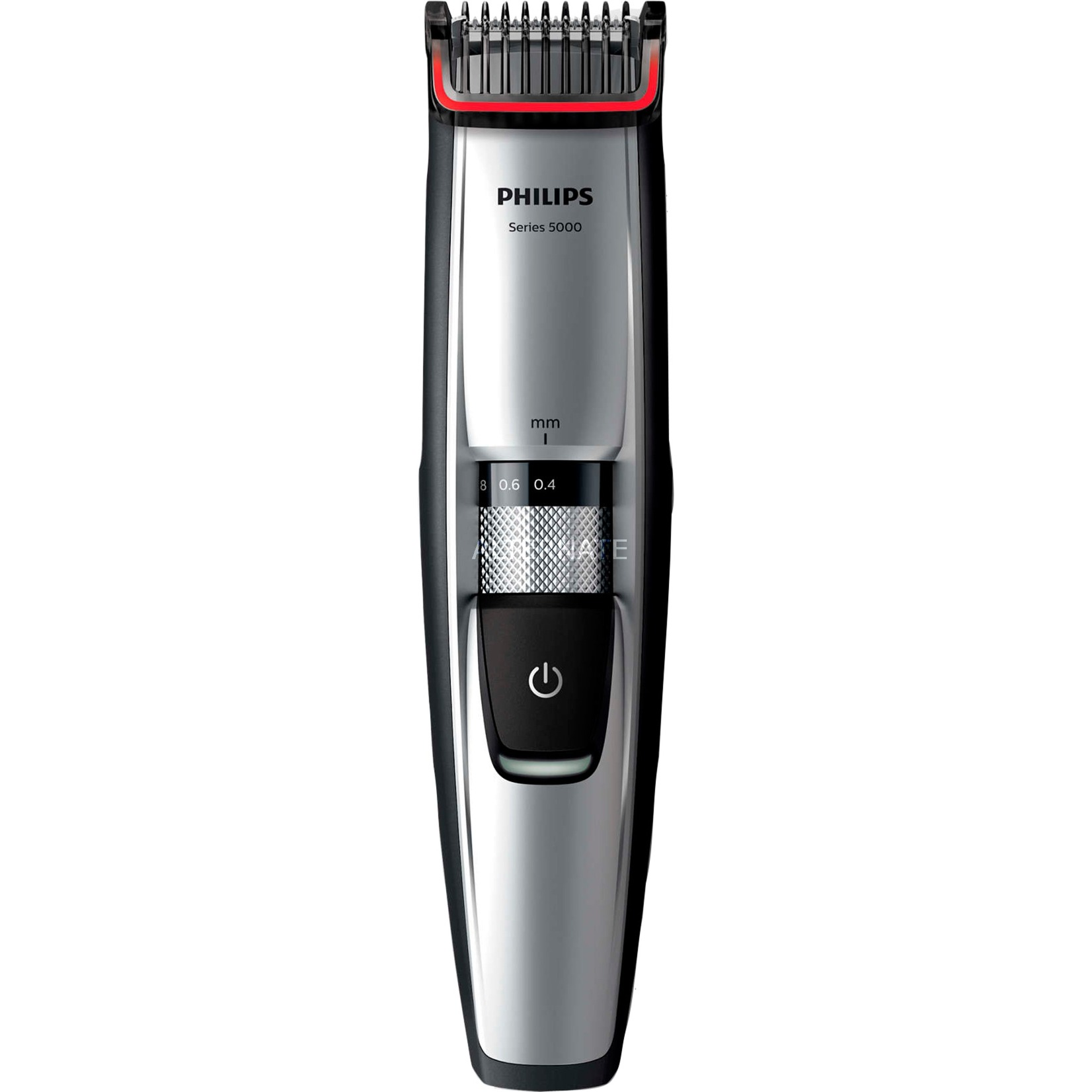 BEARDTRIMMER Series 5000 BT5205/16 Recargable Cromo cortadora de pelo y maquinilla, Máquina de afeitar