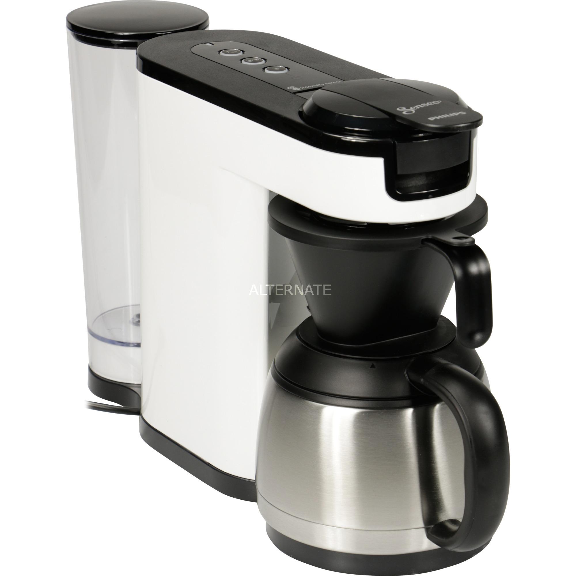 HD6592/00 cafetera eléctrica Independiente Máquina de café en cápsulas Negro, Blanco 1 L 7 tazas Manual, Cafetera monodosis