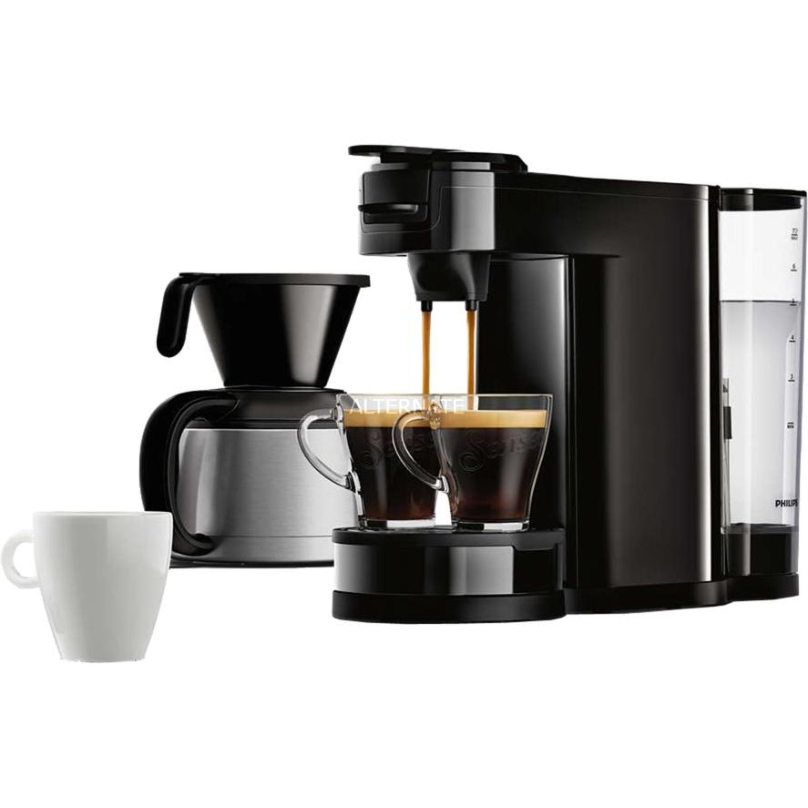 HD7892/60 Independiente Totalmente automática Máquina de café en cápsulas 1L 7tazas Negro cafetera eléctrica, Cafetera monodosis