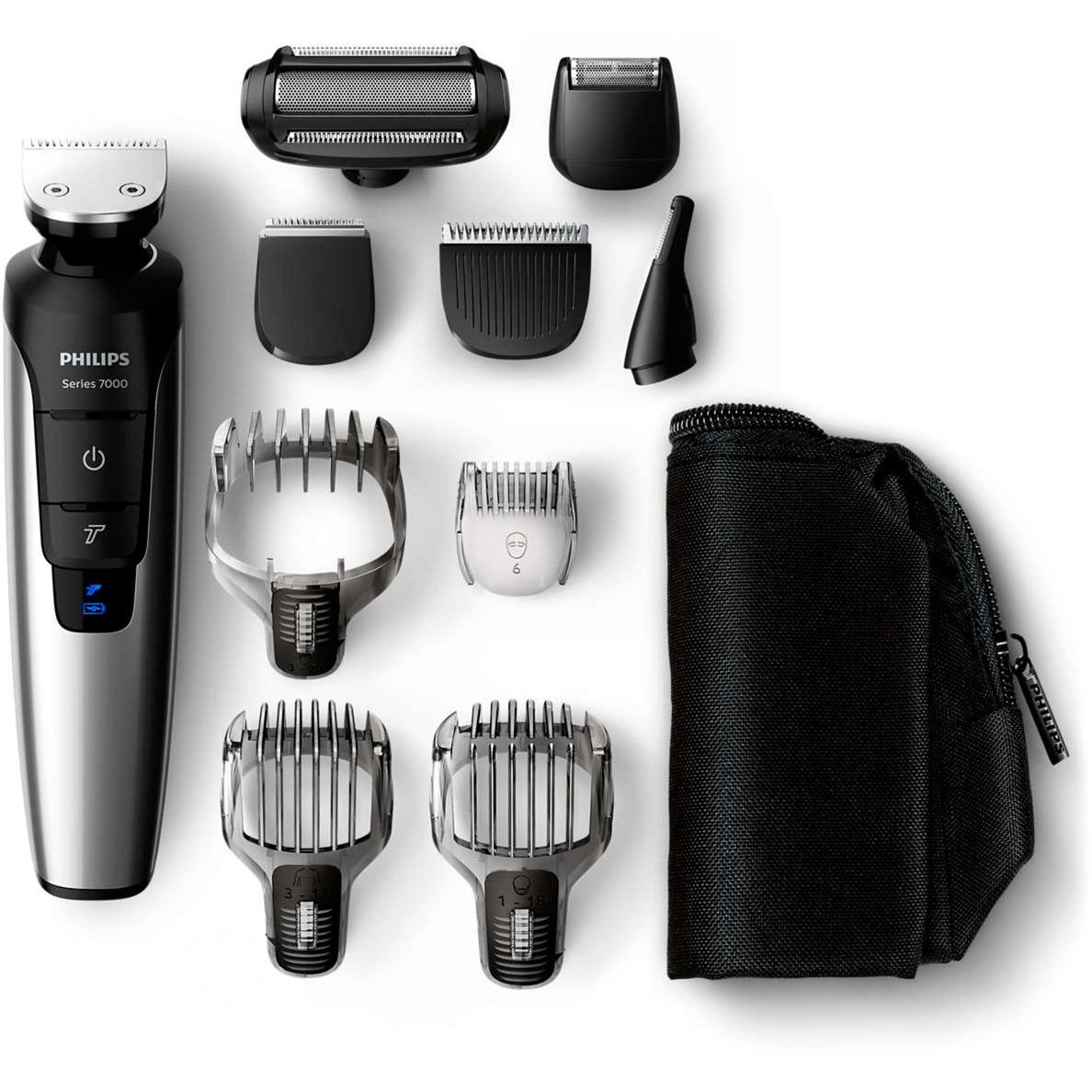 MULTIGROOM Series 7000 Recortador corporal de iones de litio 10 en 1 QG3398/15, Cortador de pelo