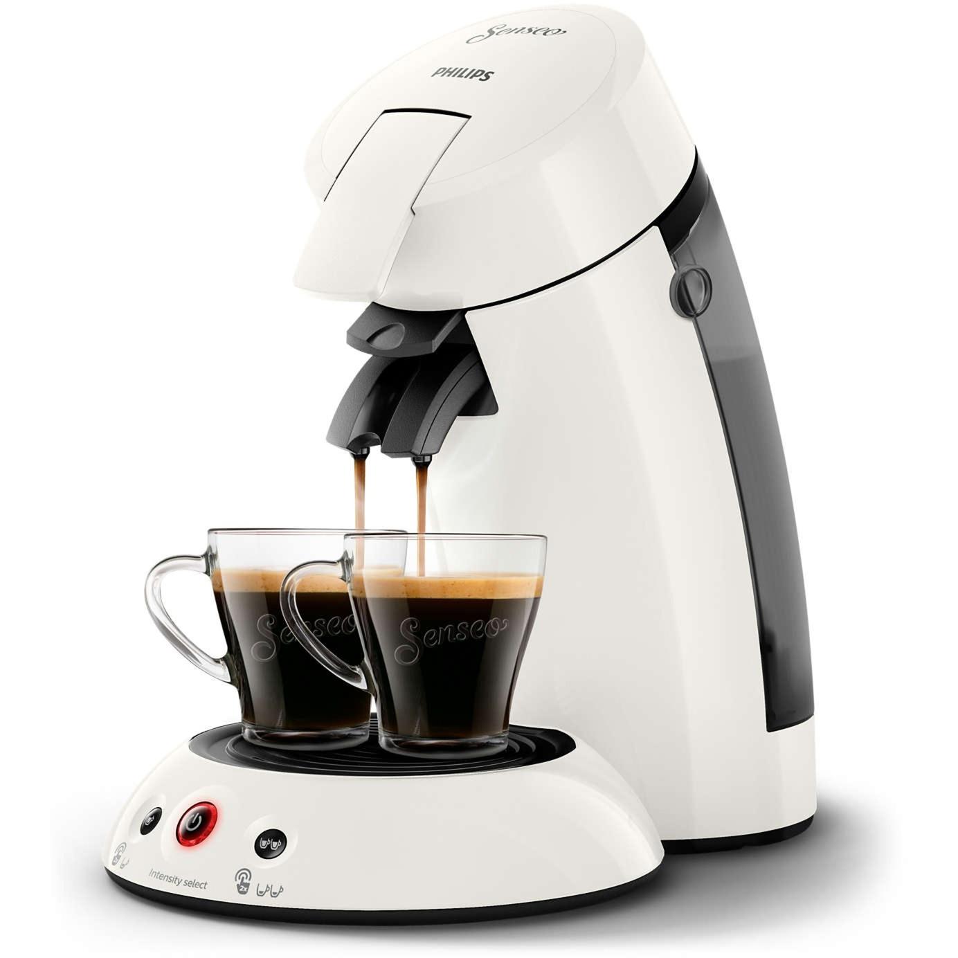 Original HD6554/10 Independiente Semi-automática Máquina de café en cápsulas 0.7L Blanco cafetera eléctrica, Cafetera monodosis