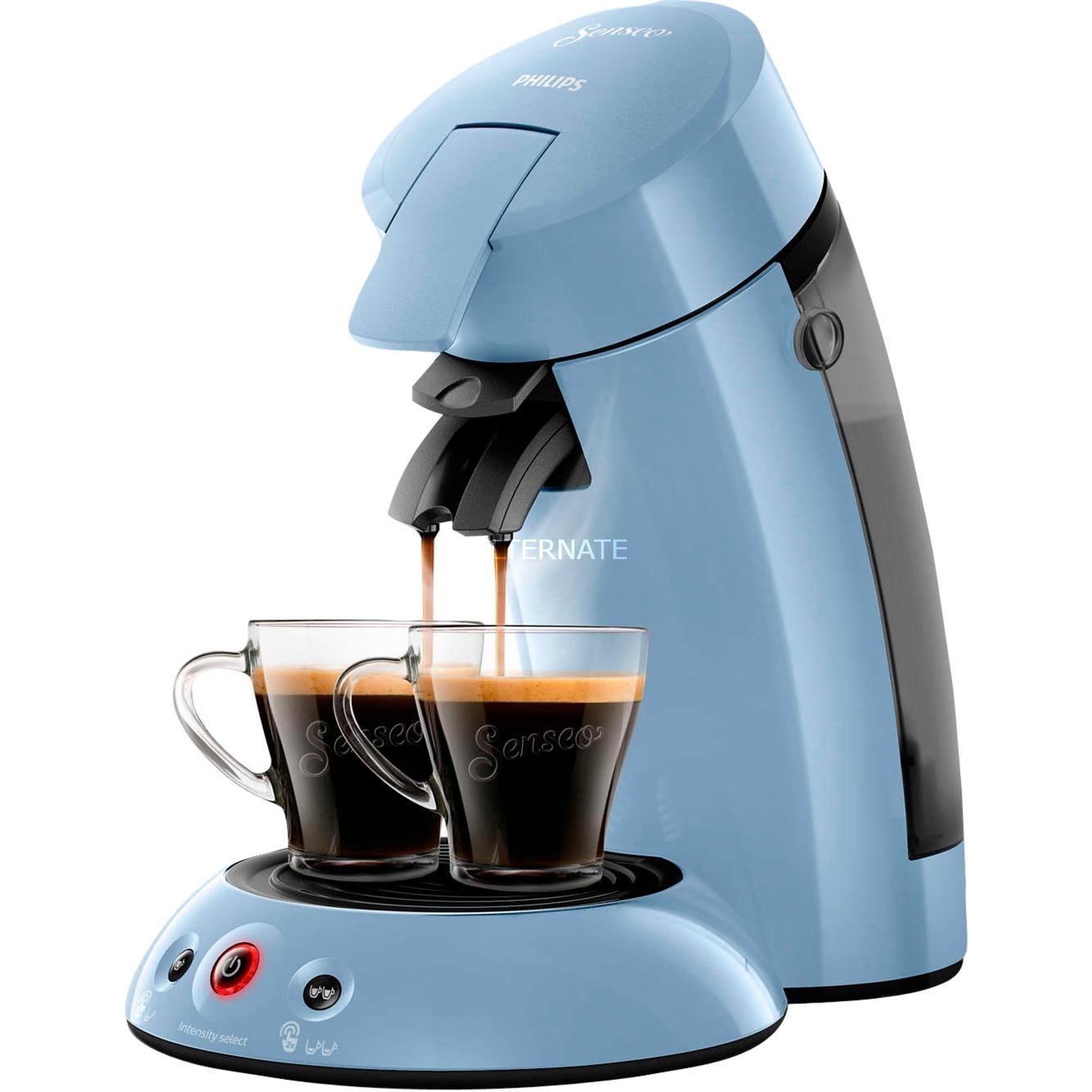 Original HD6554/70 cafetera eléctrica Independiente Máquina de café en cápsulas Azul 0,7 L Semi-automática, Cafetera monodosis