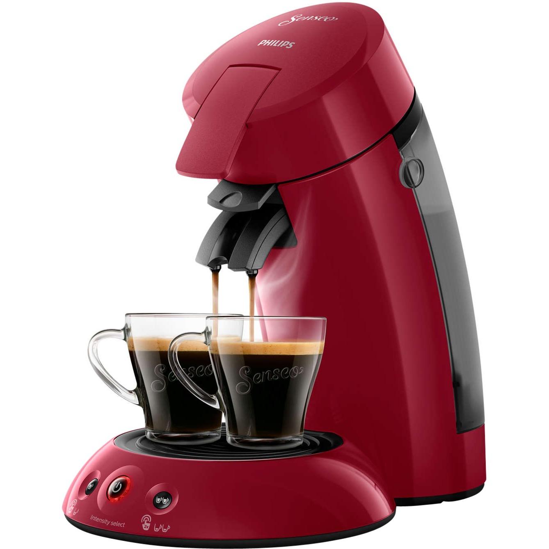 Original HD6554/90 Independiente Semi-automática Máquina de café en cápsulas 0.7L Rojo cafetera eléctrica, Cafetera monodosis