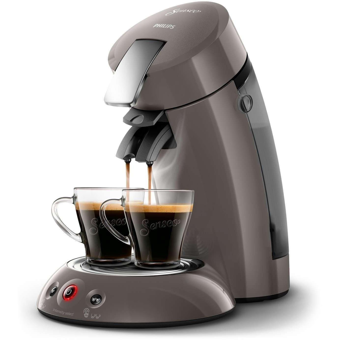 Original HD6556/00 Independiente Semi-automática Máquina de café en cápsulas 0.7L Gris cafetera eléctrica, Cafetera monodosis