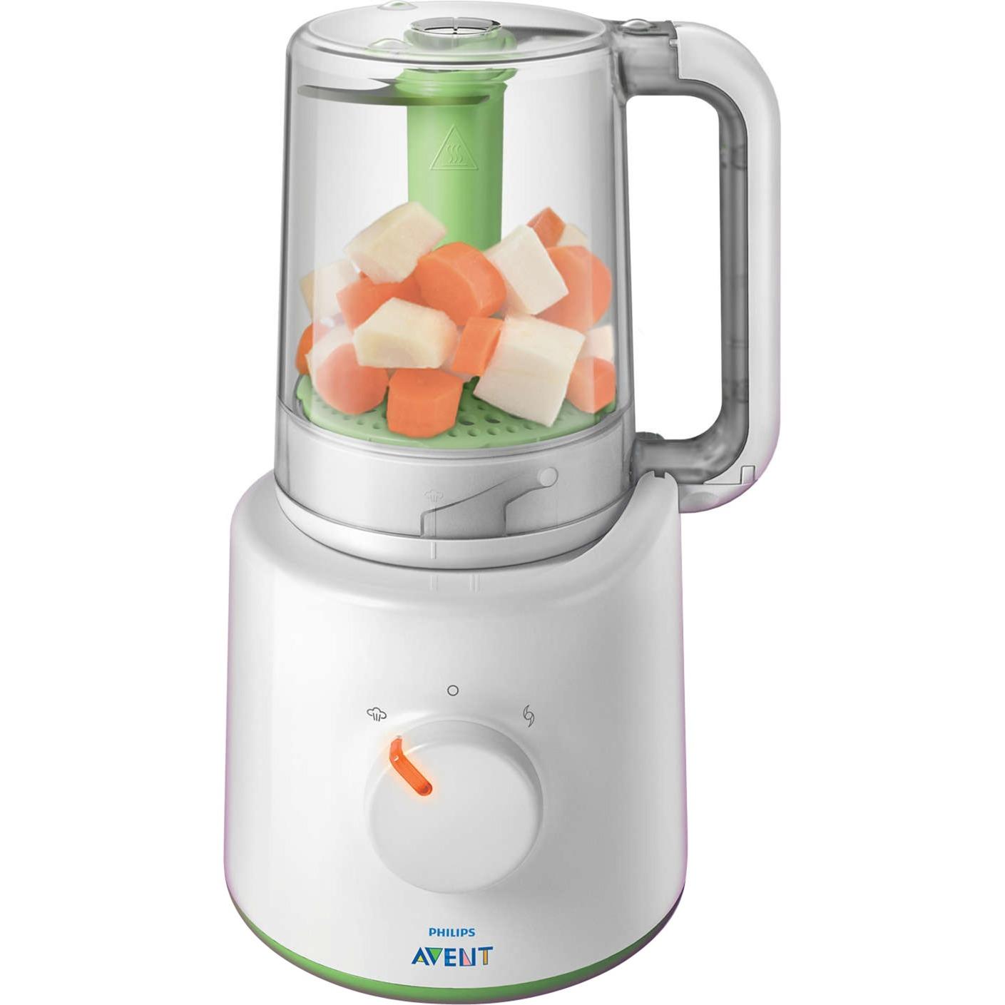 Robot de comida infantil 2 en 1 SCF870/20 licuadora, Calientaplatos