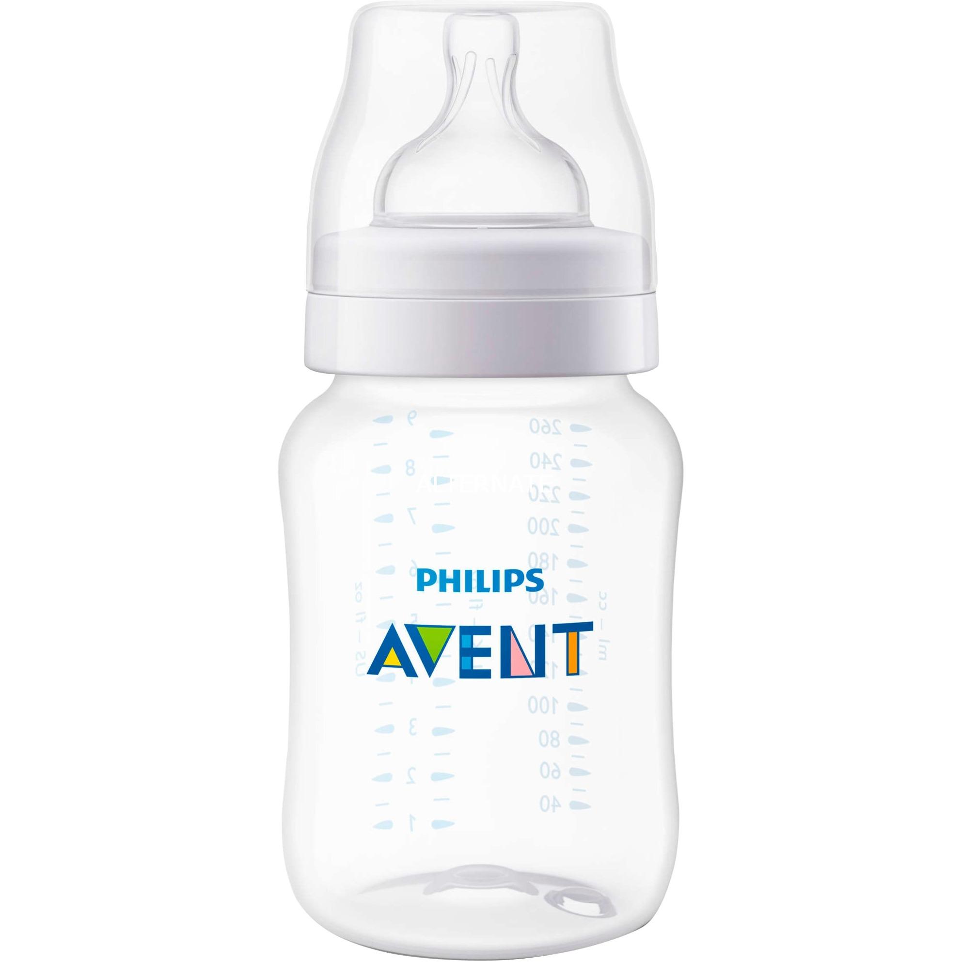 SCF563/27 260ml Polipropileno (PP) Transparente, Blanco biberón, Botella de bebé