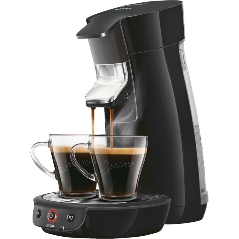 Viva Café HD7829/69 Independiente Totalmente automática Máquina de café en cápsulas 0.9L 6tazas Negro cafetera eléctrica, Cafetera monodosis
