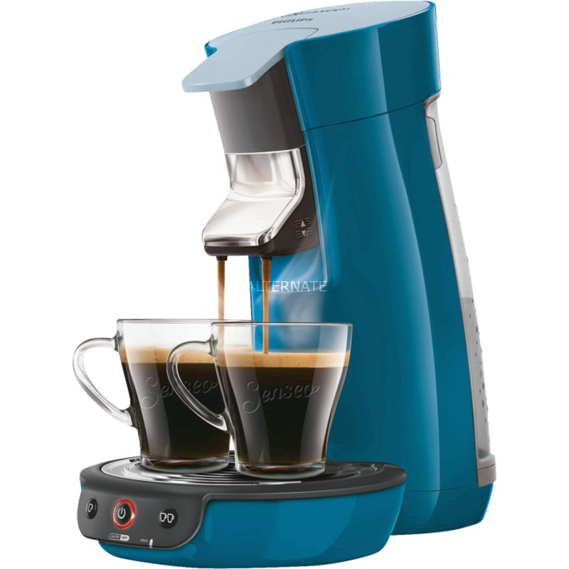Viva Café HD7829/70 Independiente Totalmente automática Máquina de café en cápsulas 0.9L 6tazas Azul cafetera eléctrica, Cafetera monodosis