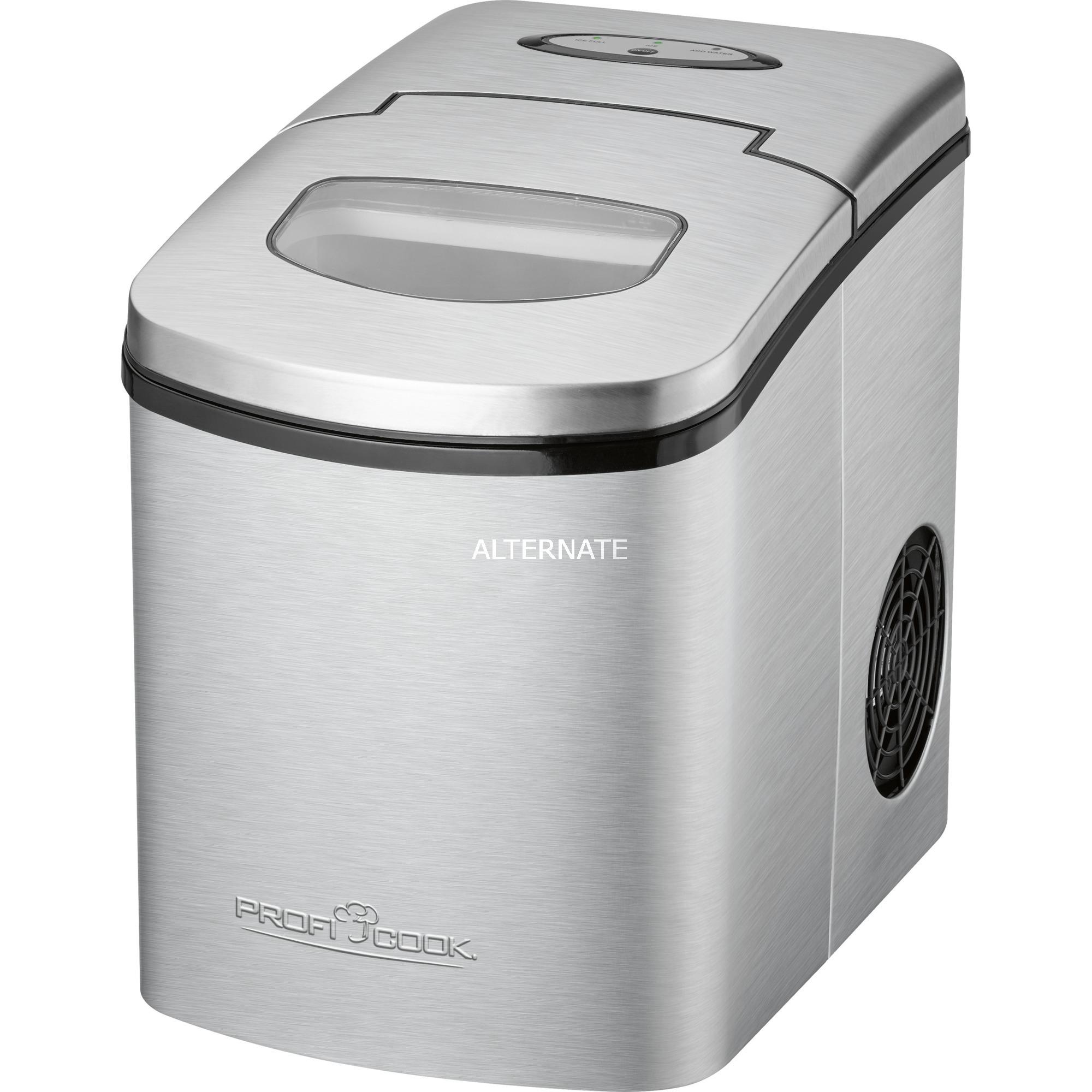 PC-EWB 1079 15kg/24h 150W Plata, Negro máquina de cubo de hielo, Preparador de cubitos de hielo