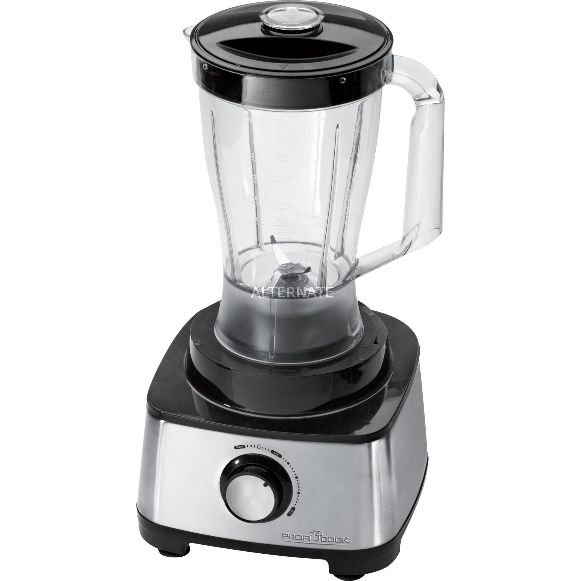 PC-KM 1063 1200W 1.75L Negro, Acero inoxidable robot de cocina