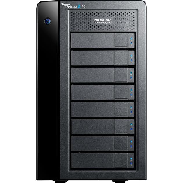 24TB Pegasus 2 R8 Servidor de almacenamiento Mini Tower Negro, Unidad de disco duro